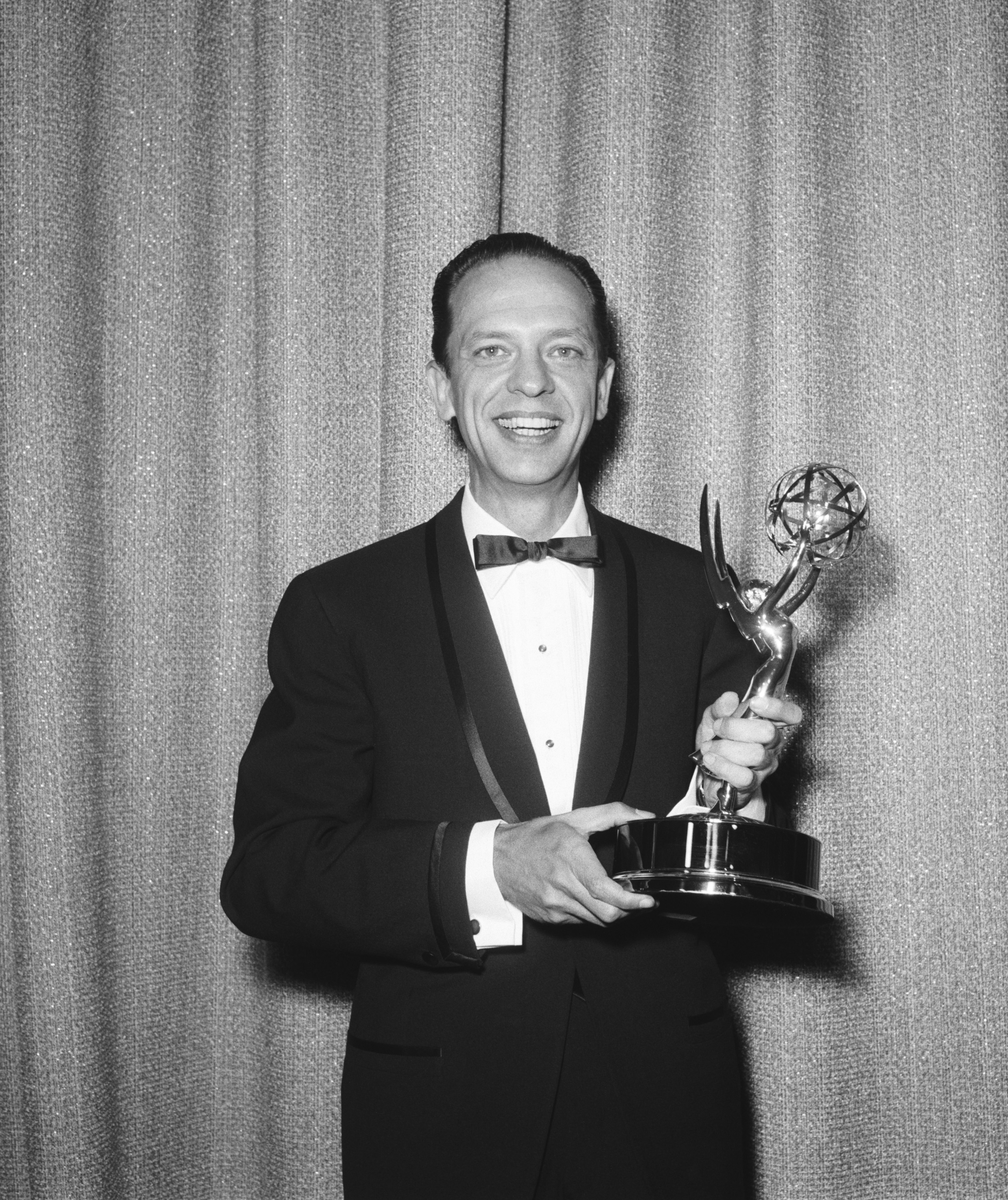 Actor Don Knotts with his Emmy trophy at the 15th Annual Primetime Emmy Awards.