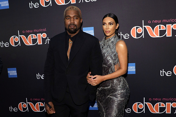 NEW YORK, NY - DECEMBER 03:  Kanye West and Kim Kardashian West attend opening night of  The Cher Show  at Neil Simon Theatre on December 3, 2018 in New York City.  (Photo by Taylor Hill/FilmMagic)