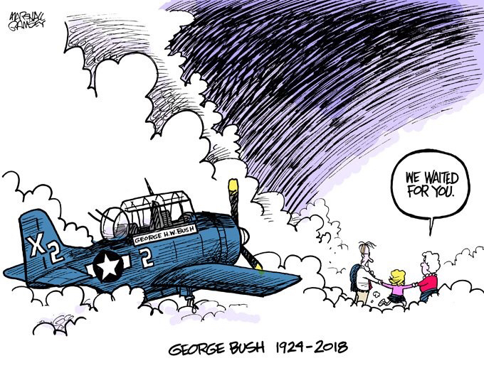 Marshall Ramsey's cartoon depicting former president George H.W. Bush.