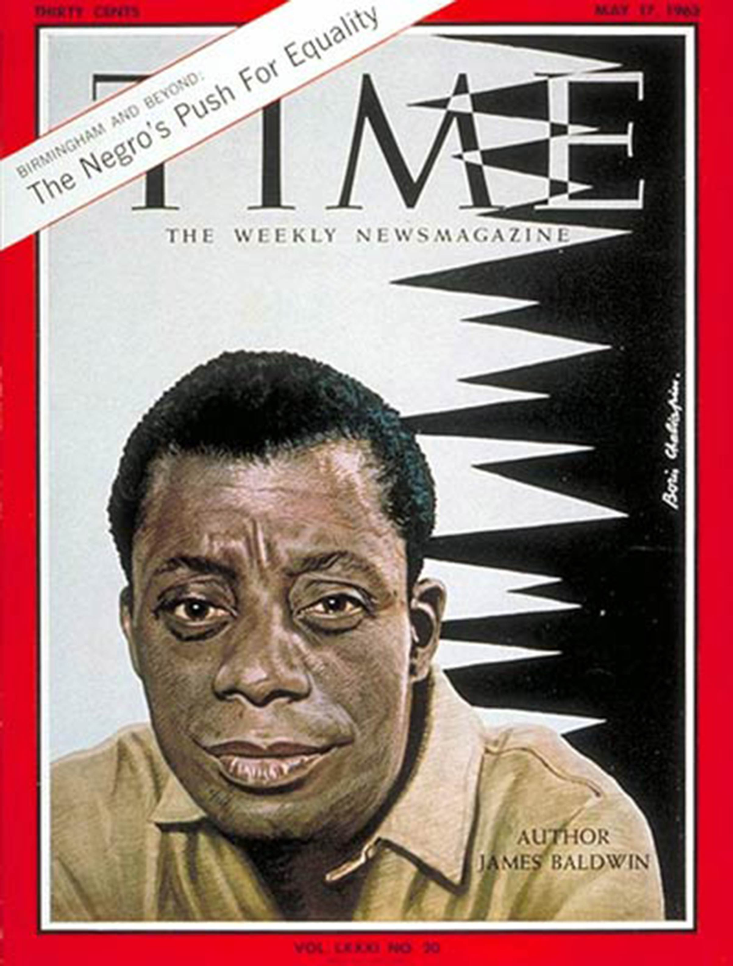 Author James Baldwin on the cover of TIME's May 17, 1963, issue.