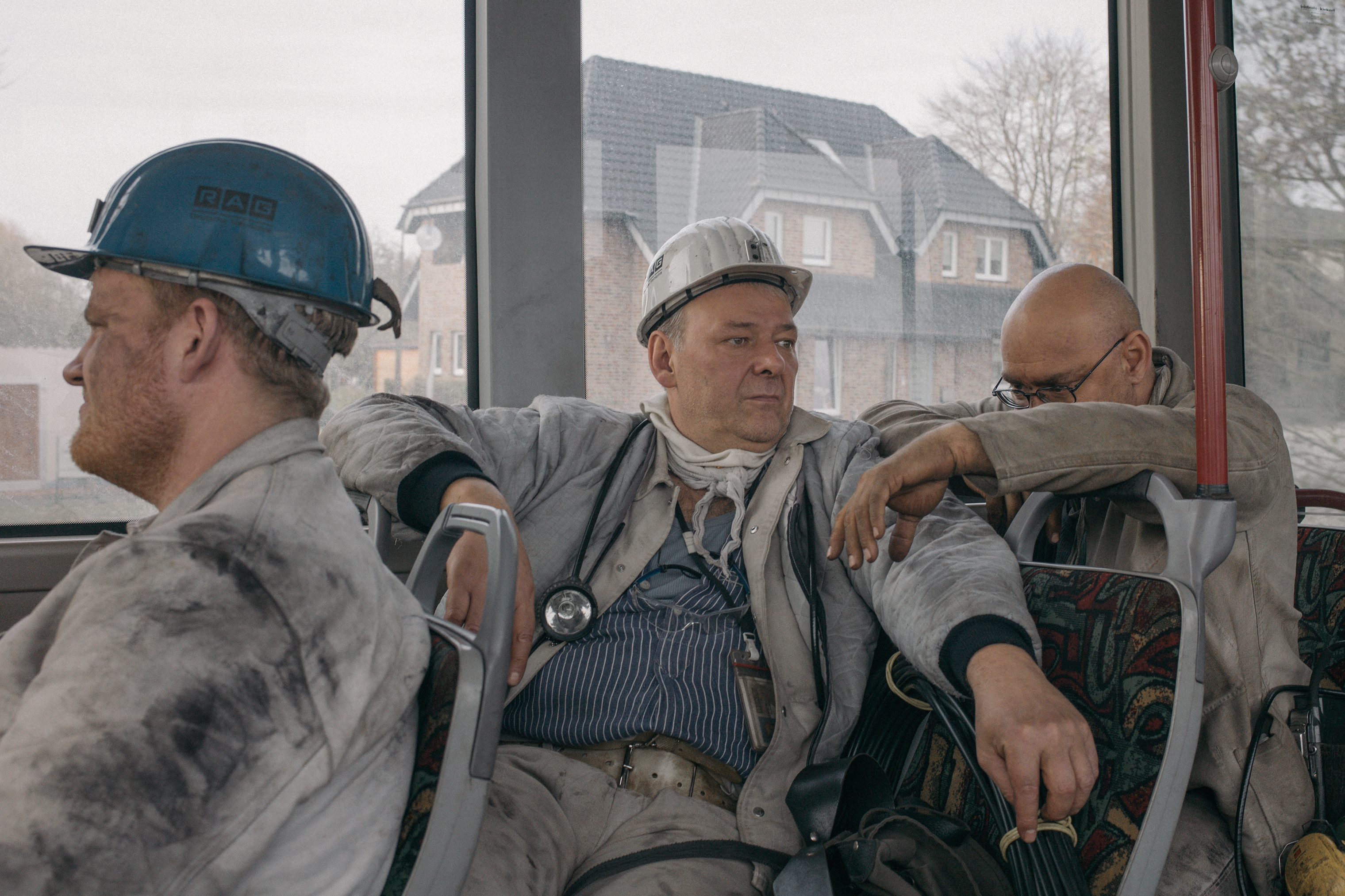 After an eight-hour shift, miners are transported to the baths to clean up in November 2017. The Prosper-Haniel mine in western Bottrop will be officially closed on Dec. 21.