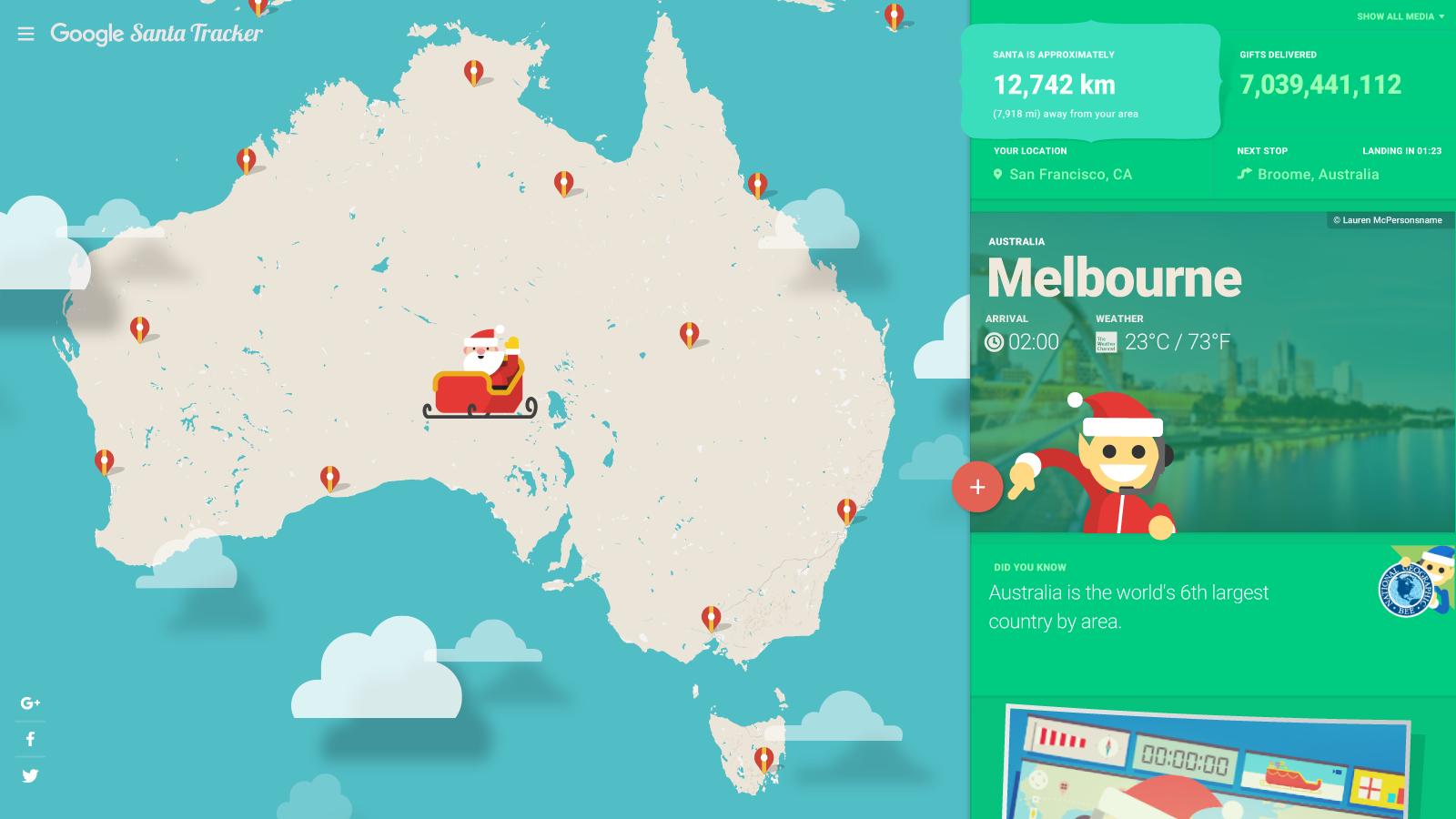 2018's Santa Tracker
