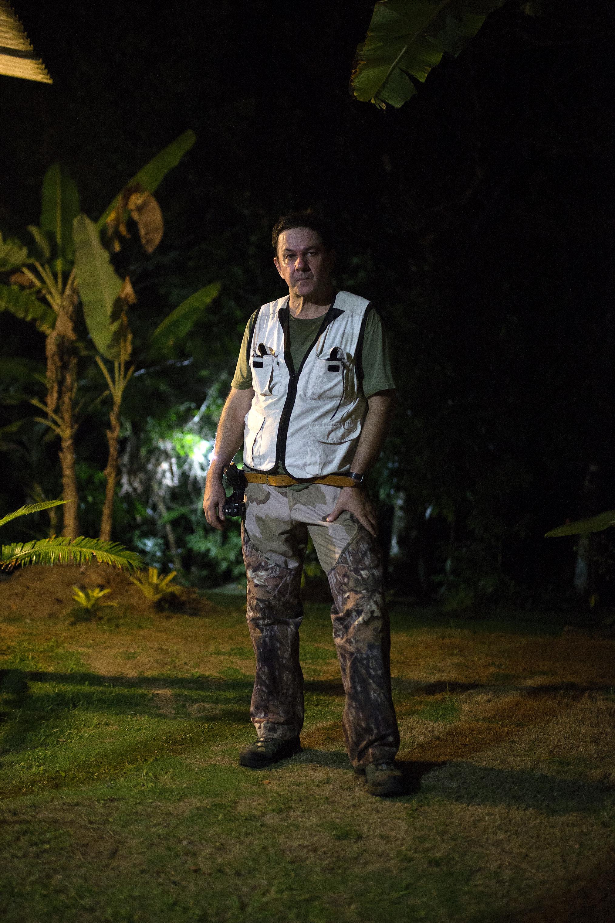 Dr. Rodrigo Souza at his snake sanctuary in Serra Grande, Brazil.