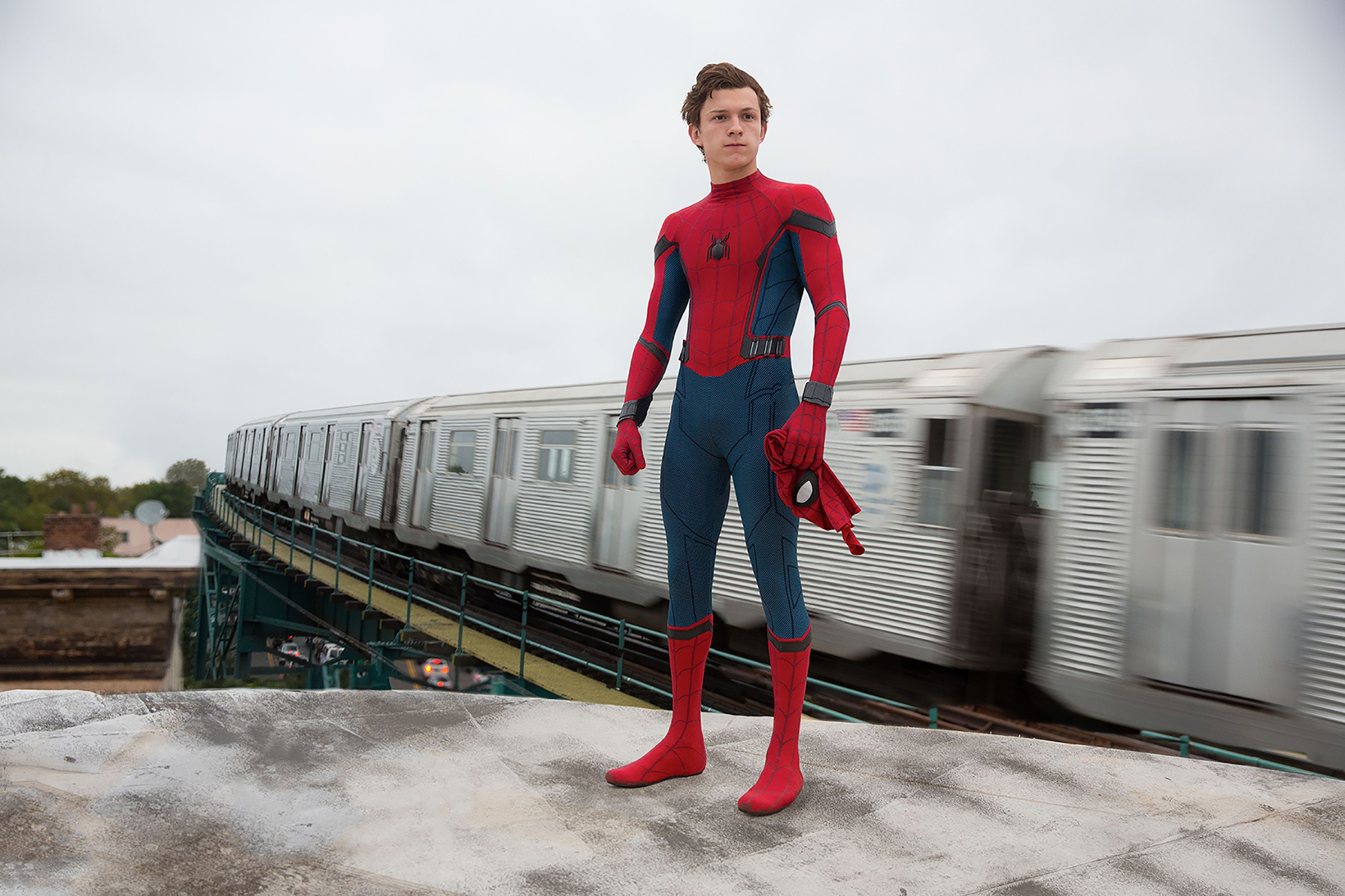 Spidey's onscreen alter-ego has always been Peter Parker. Sixteen years after the original film, Sony looks to modernize the character. From left: Tobey Maguire, Andrew Garfield and Tom Holland.