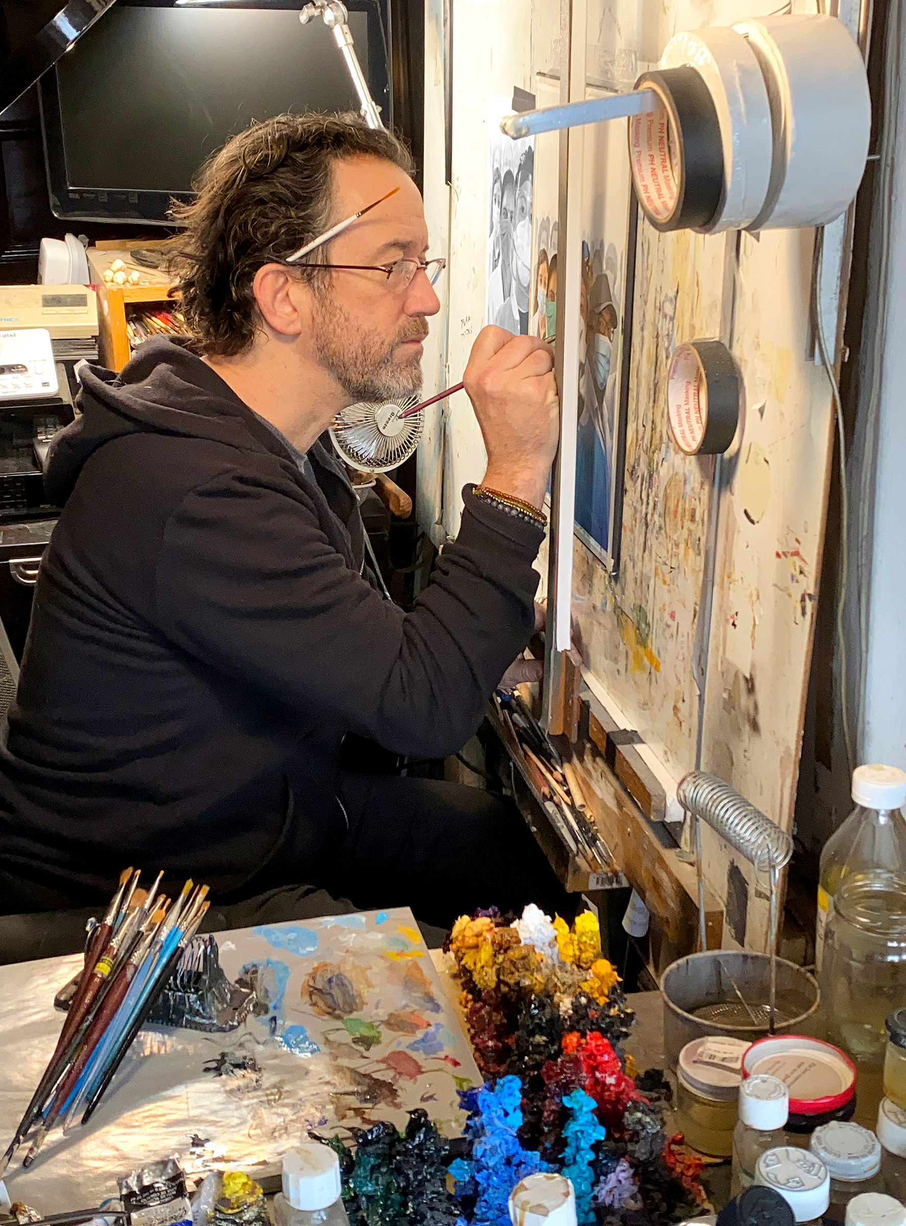 Tim O'Brien in his New York studio.