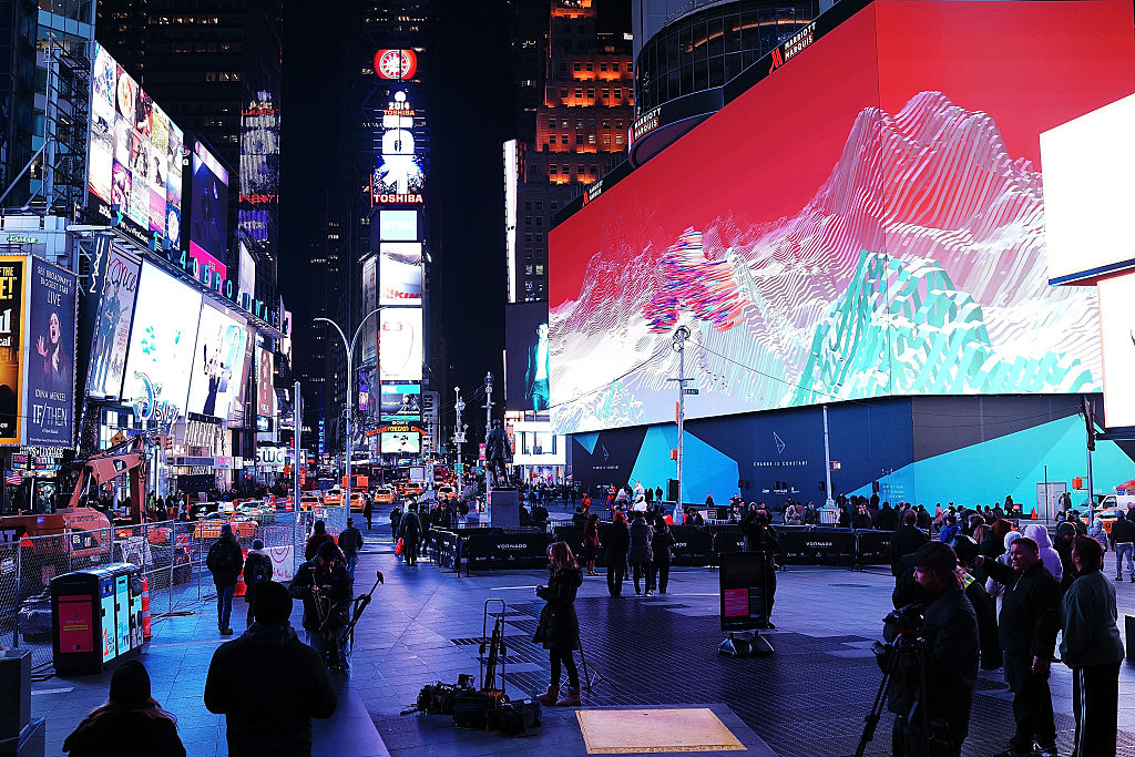 A view of Times Square on November 18, 2014 in New York City.