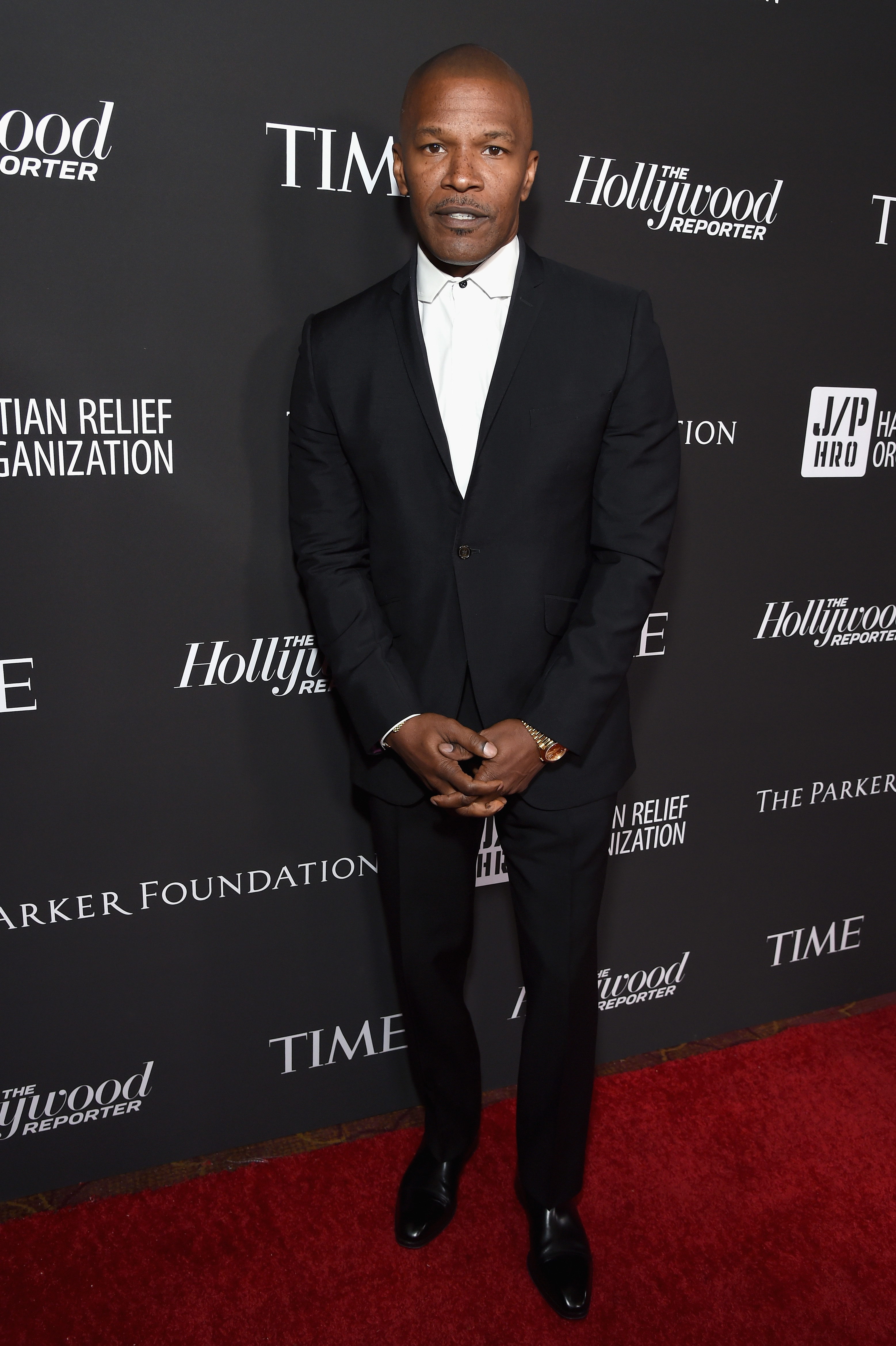 Jamie Foxx attends the Sean Penn CORE Gala benefiting the organization formerly known as J/P HRO & its life-saving work across Haiti & the world at The Wiltern on January 5, 2019 in Los Angeles, California.