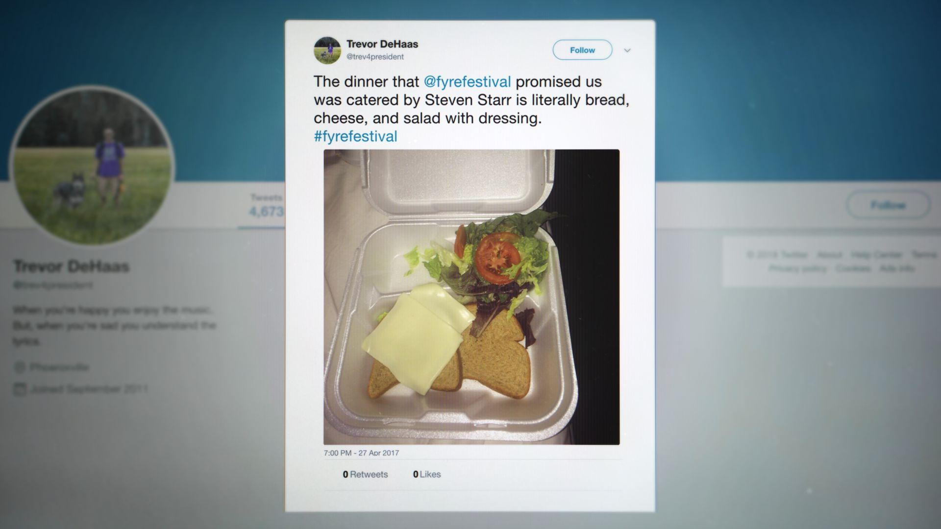 The viral cheese sandwich tweet