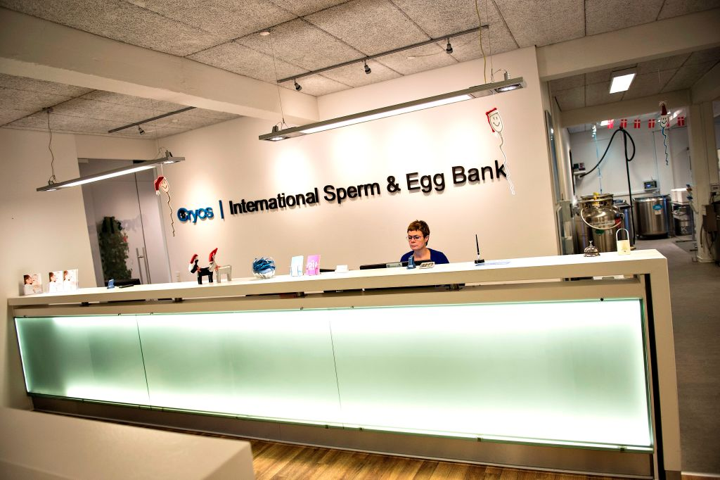 Photo illustration of Cryos, the biggest sperm bank worldwide, taken December 15, 2016, in Aarhus.