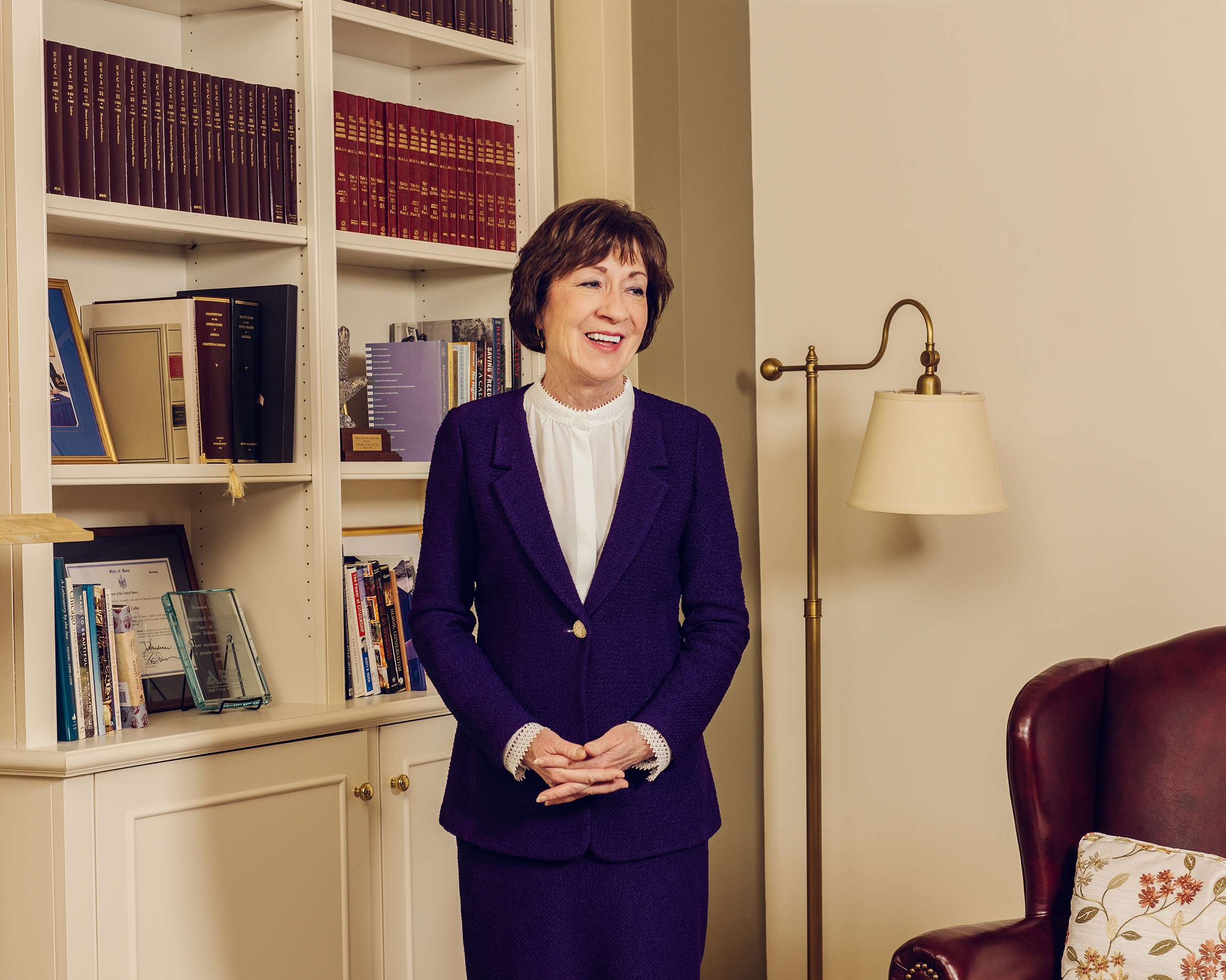 In this moment in American politics, Collins, photographed in Washington, D.C., on Nov. 27, can seem like the last of her kind.