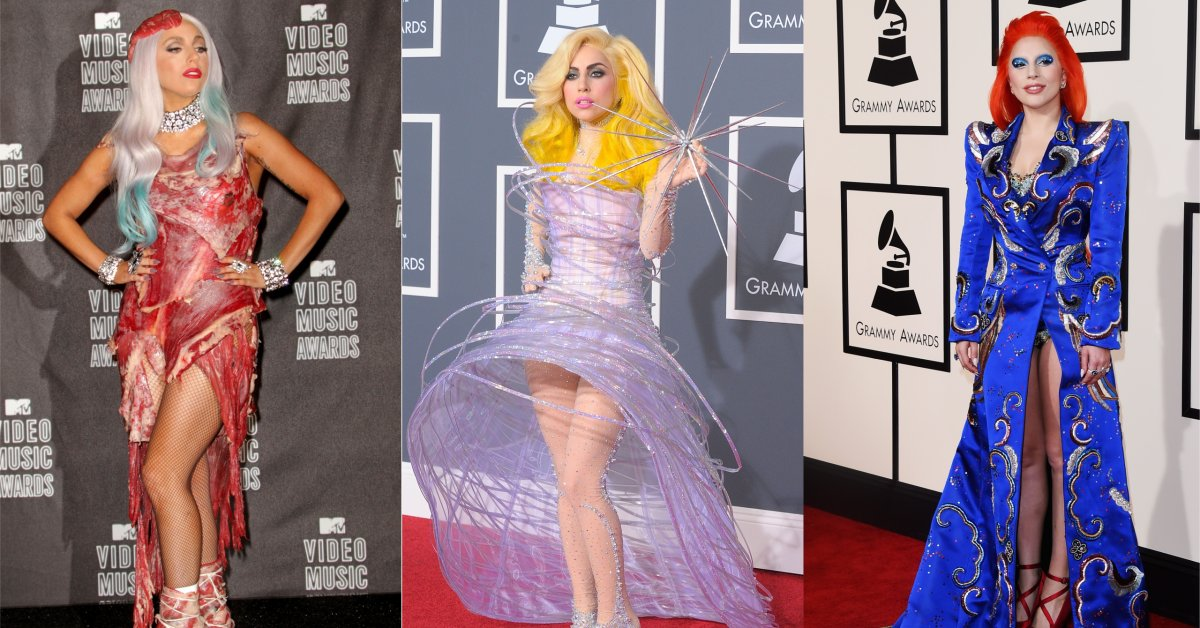 Lady Gaga S Best Red Carpet Looks Meat Dress Star Is Born Time