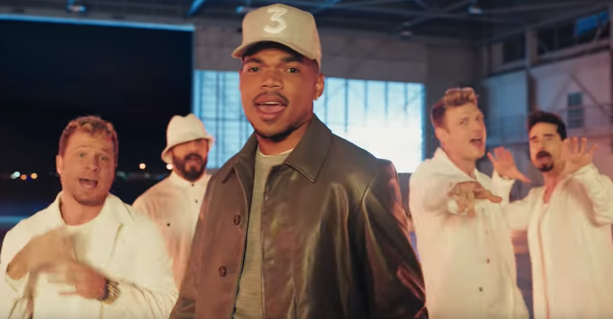 Chance the Rapper and Backstreet Boys in this year's Doritos commercial.