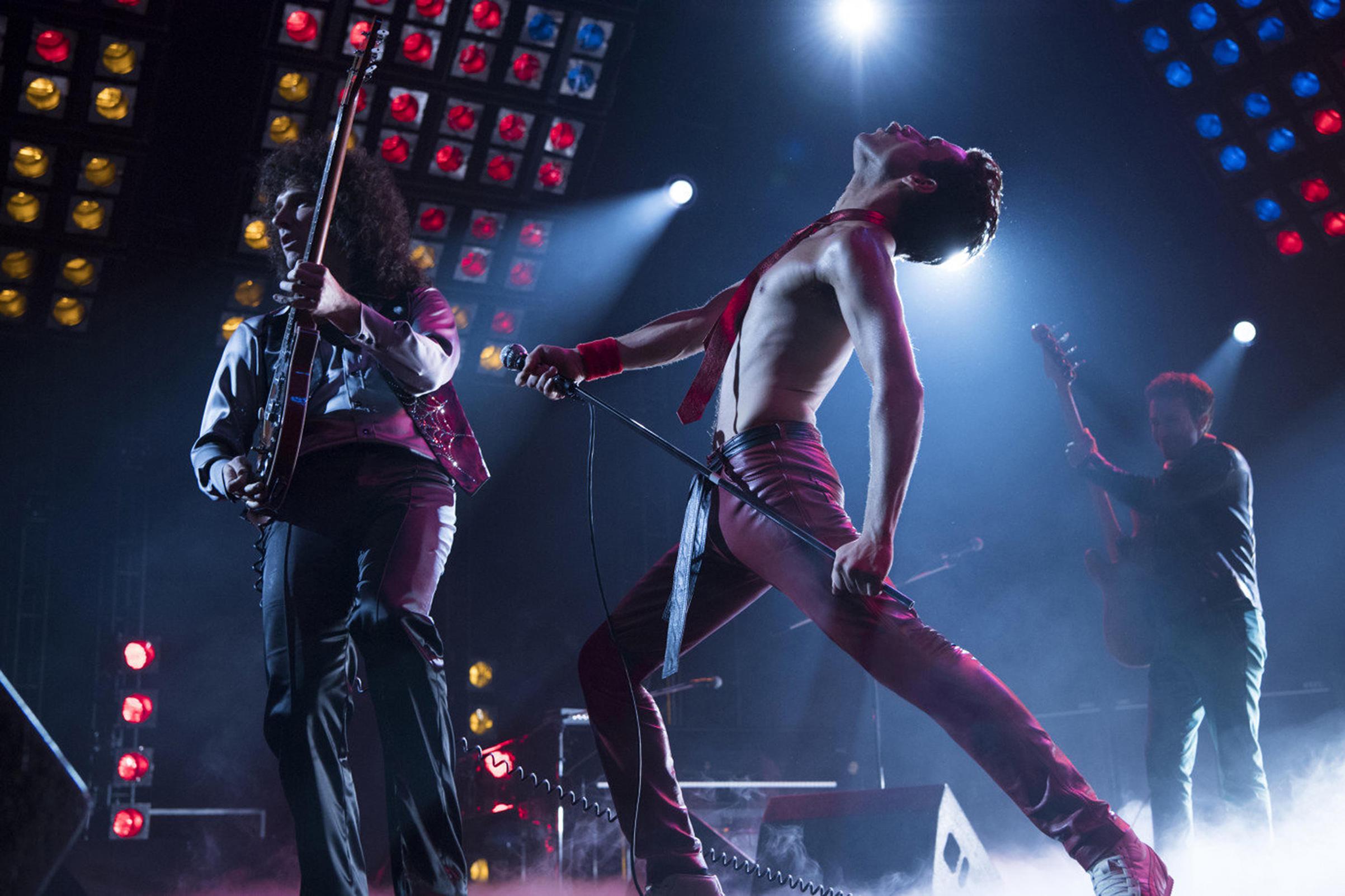 Gwilym Lee and Rami Malek are seen in the 'Bohemian Rhapsody' biopic.