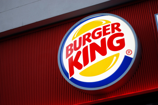 Burger King sign in Liverpool