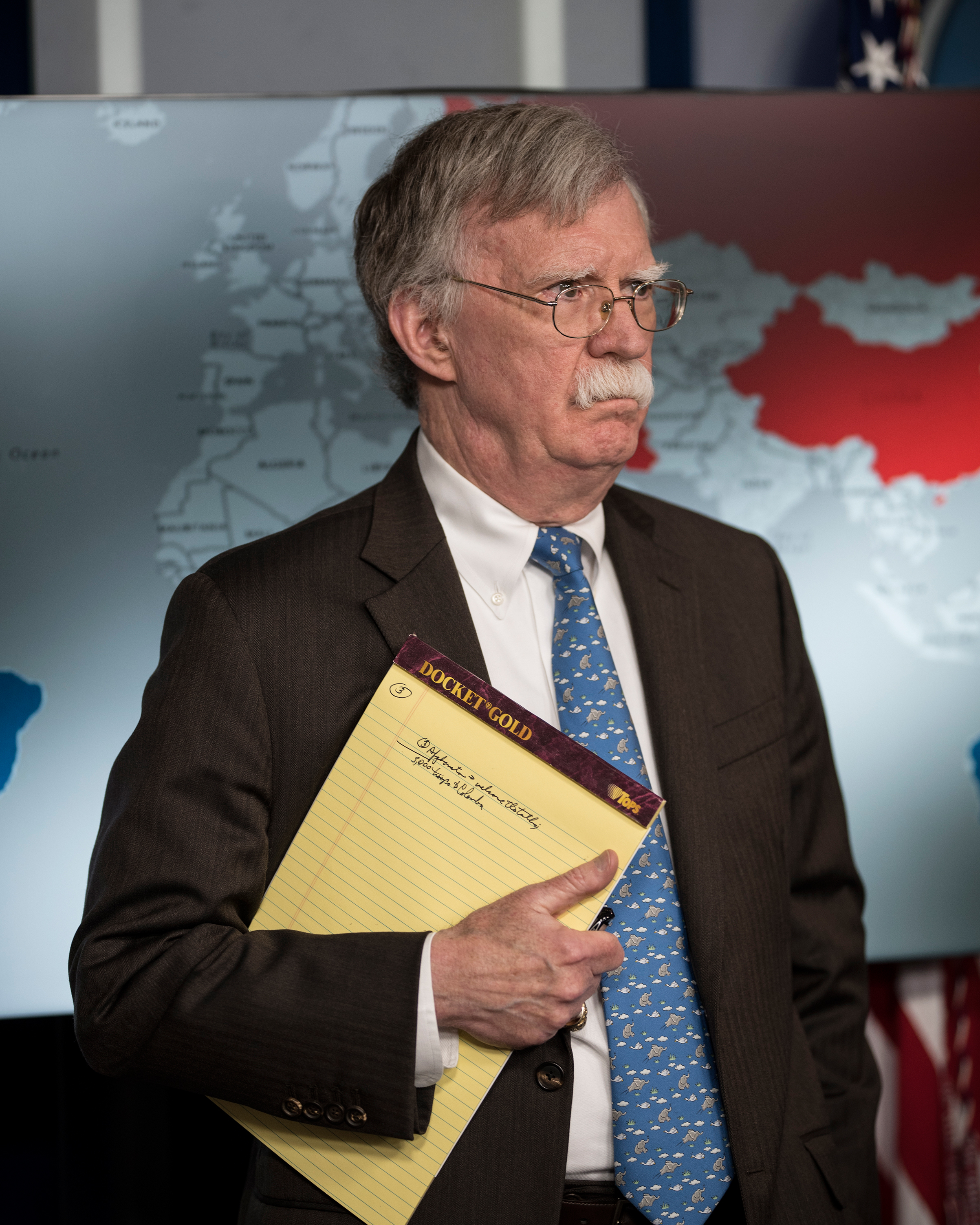 National security adviser John Bolton during a White House press briefing in Washington, D.C., on Jan. 28, 2019.