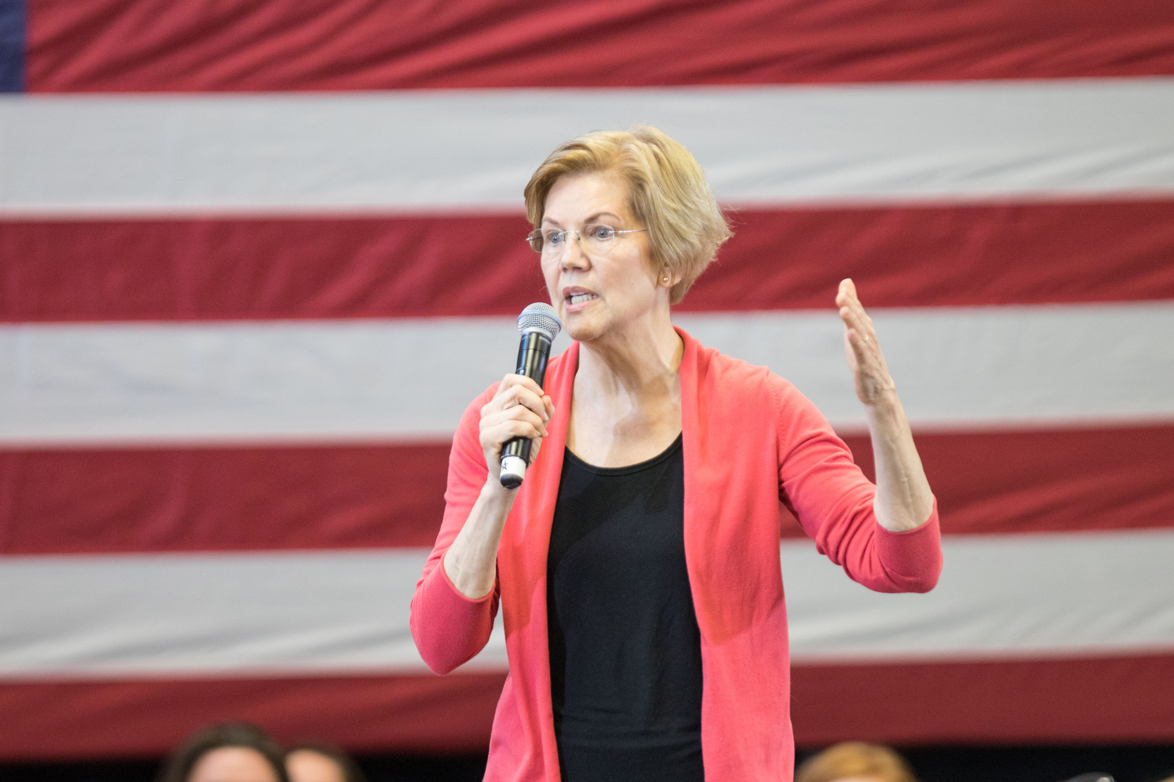 Sen. Elizabeth Warren (D-MA), speaks during a New Hampshire organizing event for her 2020 presidential exploratory committee on Jan. 12, 2019 in Manchester, New Hampshire.