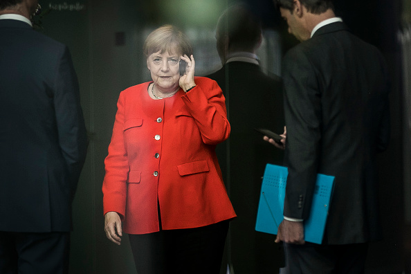 Chancellor Angela Merkel was one of around 1,000 people affected by the data breach.