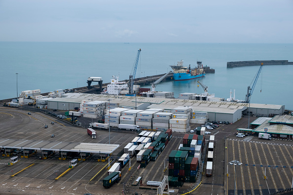 Delays at Dover port, on the south coast, could lead to shortages of goods in British shops.
