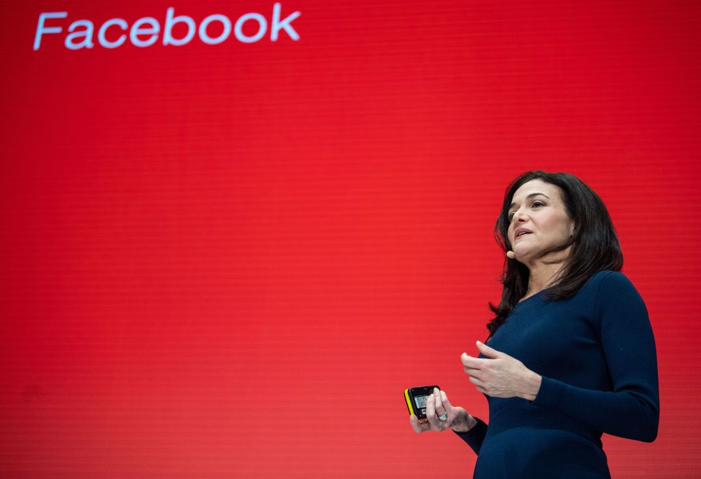Sheryl Sandberg, chief operating officer of Facebook, speaks during the Digital-Life-Design (DLD) confernce in Munich, Germany on Jan. 20, 2019.