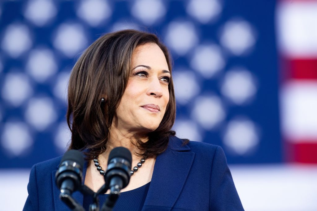 California Senator Kamala Harris speaks during a rally launching her presidential campaign on Jan. 27, 2019 in Oakland, California.