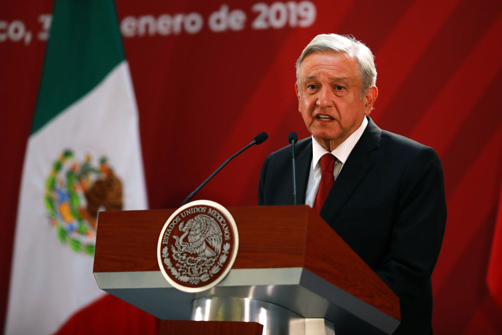 Mexican President Andrés Manuel López Obrador speaks during a press conference in Mexico City, Mexico on Jan. 30, 2019.