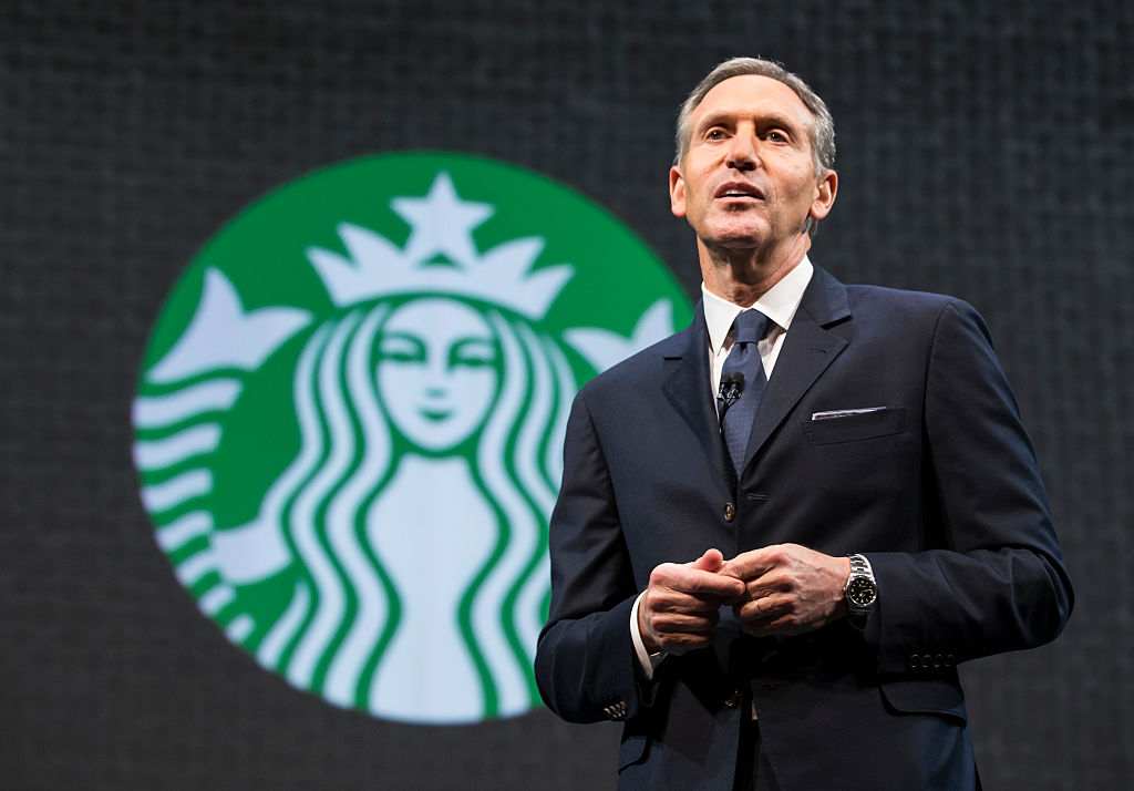 Then-Starbucks Chairman and CEO Howard Schultz. He stepped down in June 2018, and announced on Sunday he was mulling running for President in 2020 as an independent.