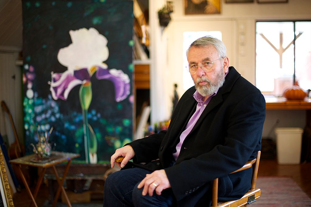 Retired CIA operative Tony Mendez is seen at his painting studio in rural Maryland on Feb. 19, 2013.