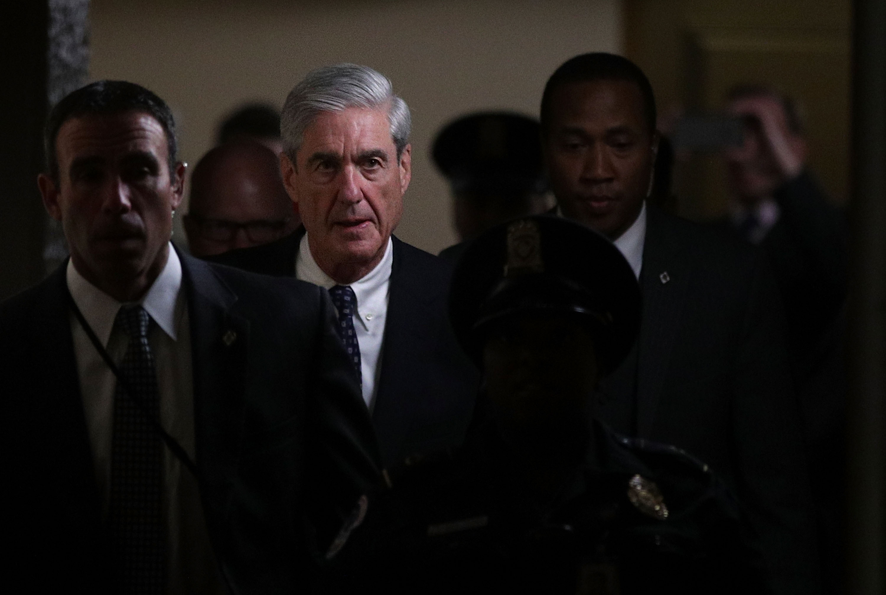 Special counsel Robert Mueller leaves after a closed meeting with members of the Senate Judiciary Committee on June 21, 2017, in Washington, D.C.