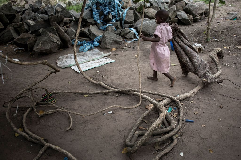 A Congolese child is seen at a makeshift orphanage that houses children abandoned or separated from their families, in Beni, Democratic Republic of the Congo, on Feb. 6, 2018.