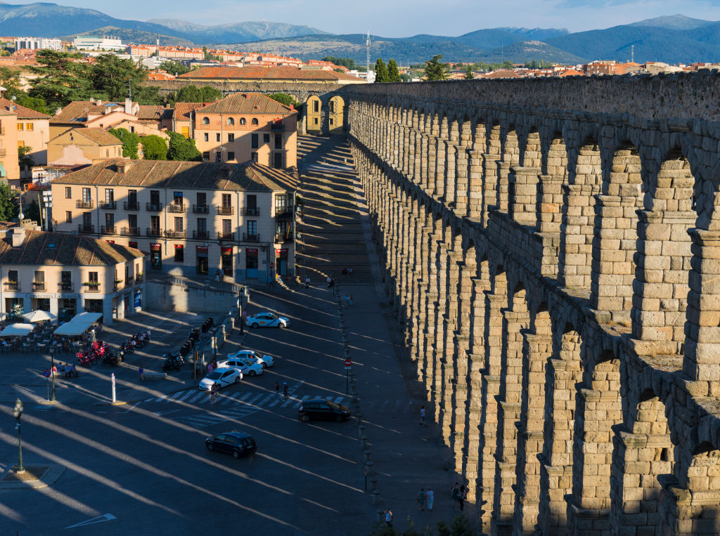 Segovia's Roman aqueduct which dates from the 1st or 2nd century A.D., and the old town, seen on June 18, 2017, are listed as a UNESCO World Heritage Site.