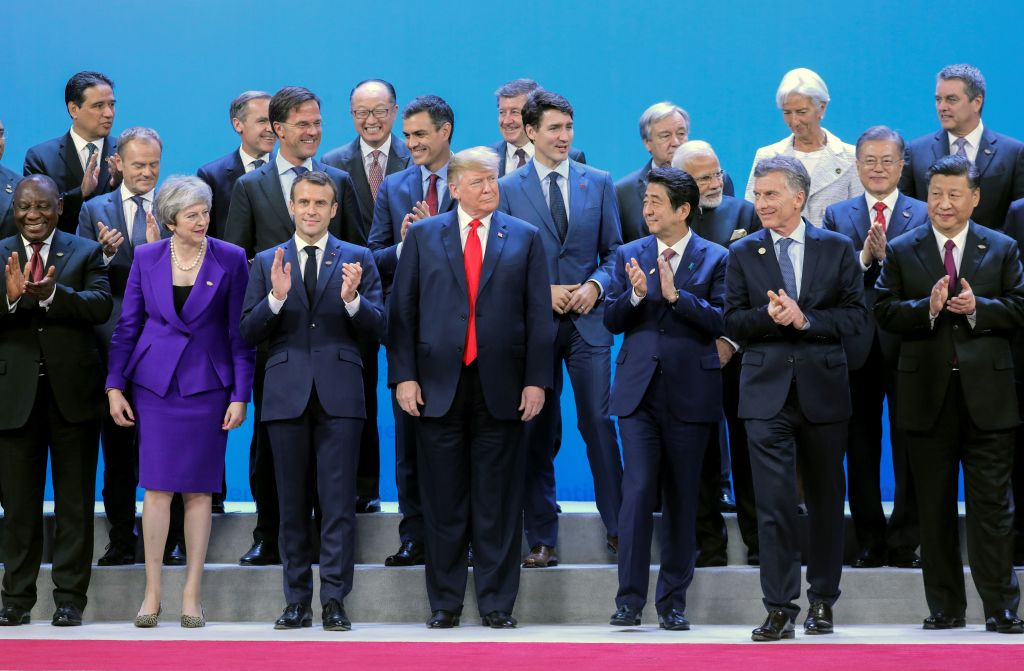 World leaders during the G20 Leaders' Summit family photo on November 30, 2018 in Buenos Aires.