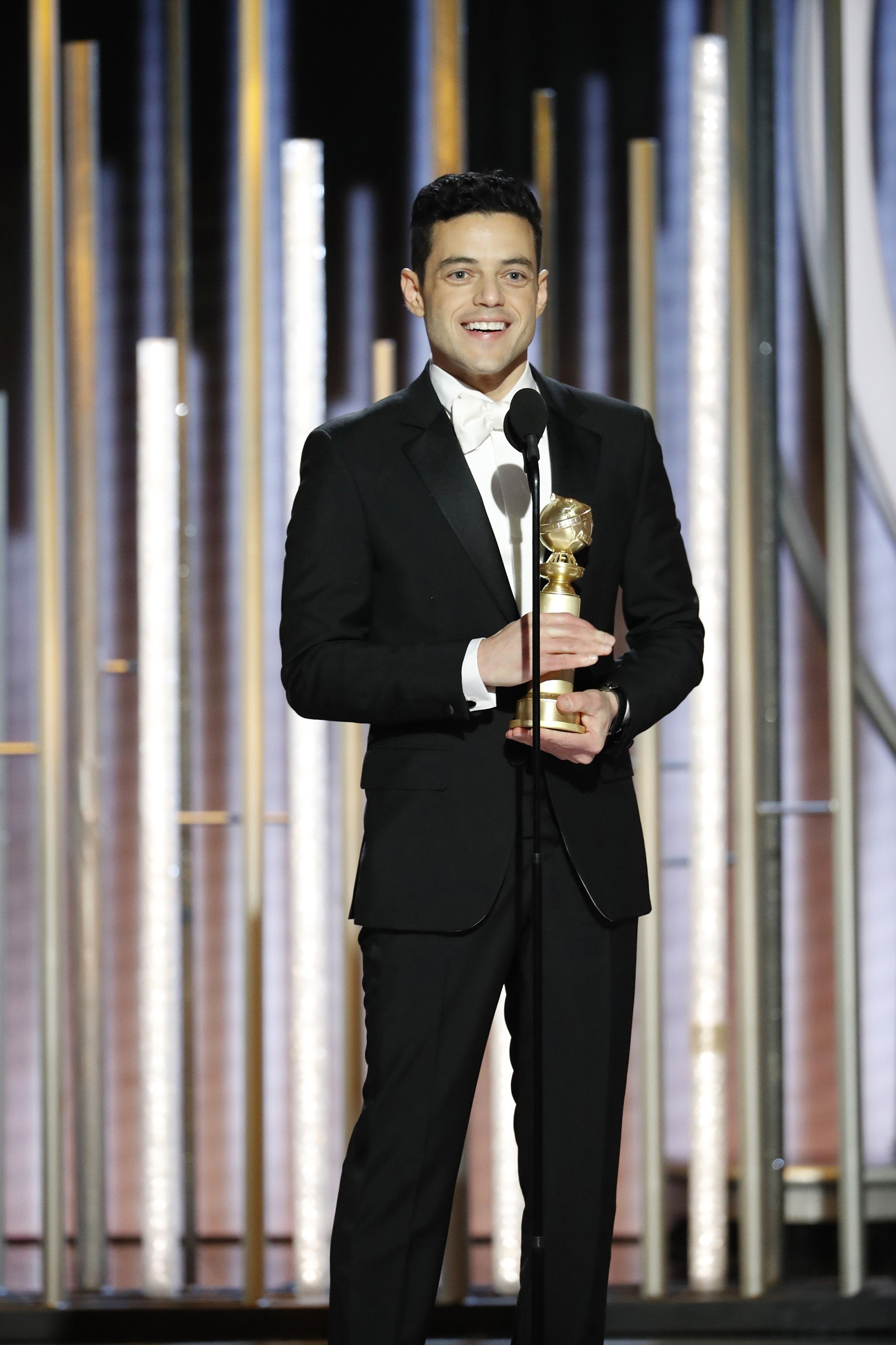 Rami Malek, winner of Best Actor - Motion Picture, Drama, accepts his award during the 76th Annual Golden Globe Awards.