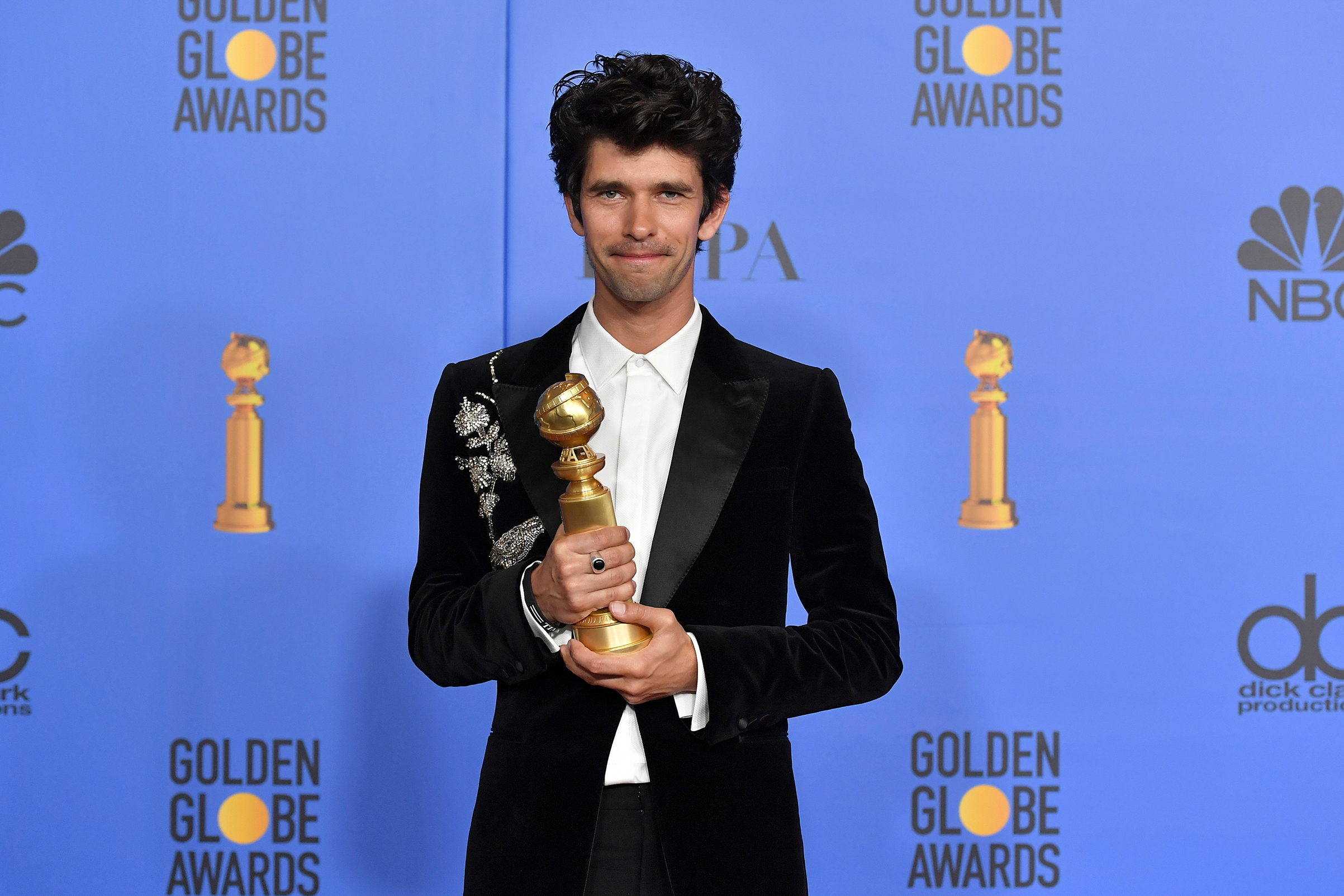 Ben Whishaw, Best Supporting Actor in a Series Limited-Series or TV Movie for 'A Very English Scandal' at the 76th Annual Golden Globe Awards.