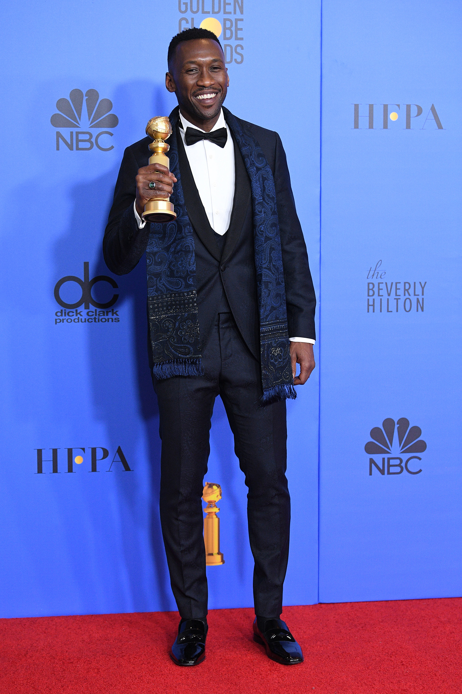 BEVERLY HILLS, CALIFORNIA - JANUARY 06: Best Actor in a Supporting Role in any Motion Picture for 'The Green Book' winner Mahershala Ali poses in the press room during the 75th Annual Golden Globe Awards at The Beverly Hilton Hotel on January 06, 2019 in Beverly Hills, California. (Photo by Daniele Venturelli/WireImage)
