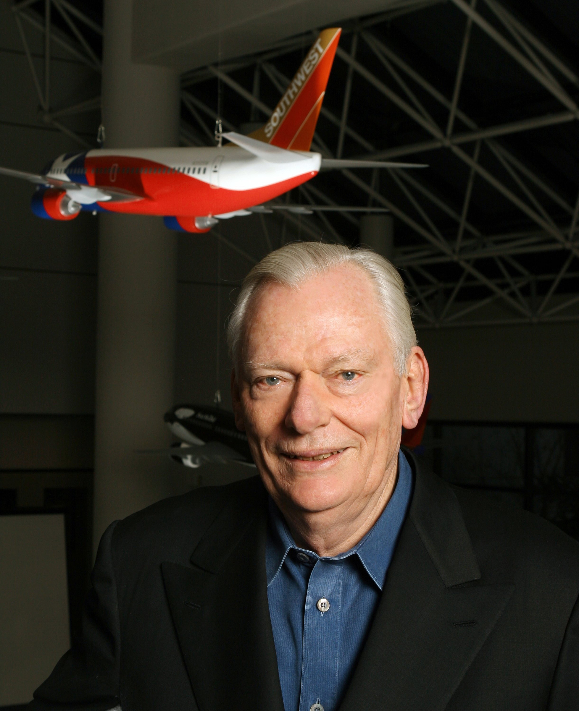 Kelleher, shown in 2005, was a prominent figure in the Dallas business community throughout his career
