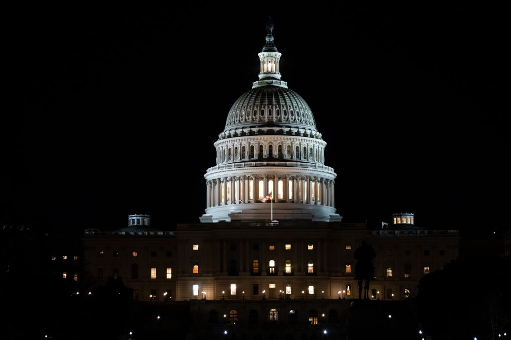 The U.S. Capitol is seen On the 25th day of the partial government shutdown at the Capitol Building in Washington D.C. on Jan. 15, 2019. The shutdown is now the longest in U.S. history. The House of Representatives rejected a bill to reopen the federal government.