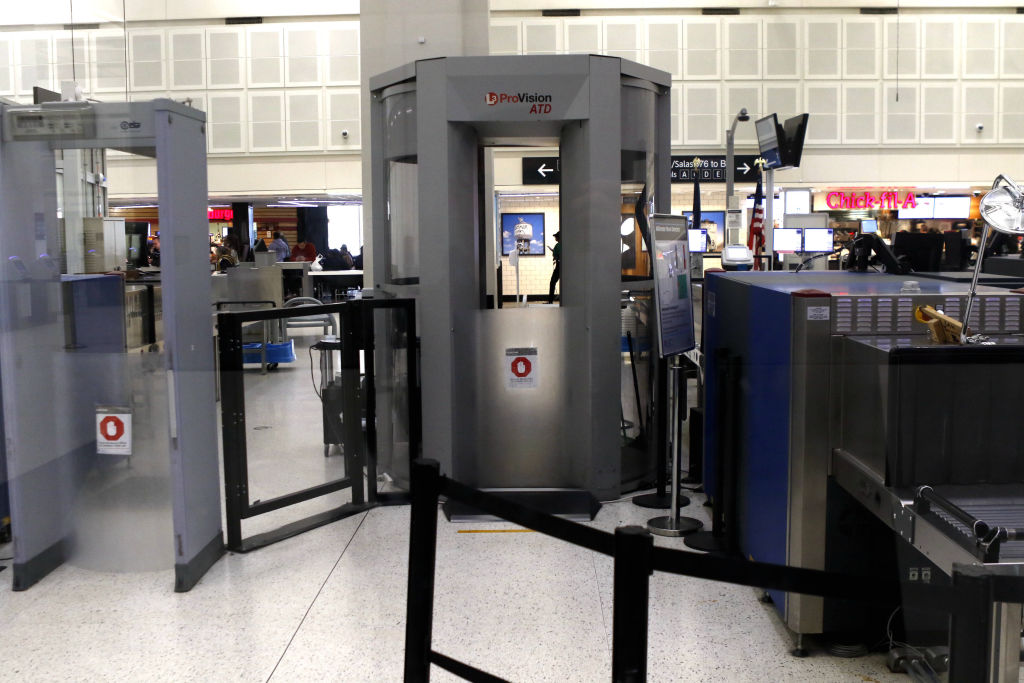 The Transportation Security Administration checkpoint in Terminal B is closed at Houston's George Bush Intercontinental Airport in Houston, Tx. on Jan. 15, 2019 due to shortage of staff related to the shutdown of the federal government.
