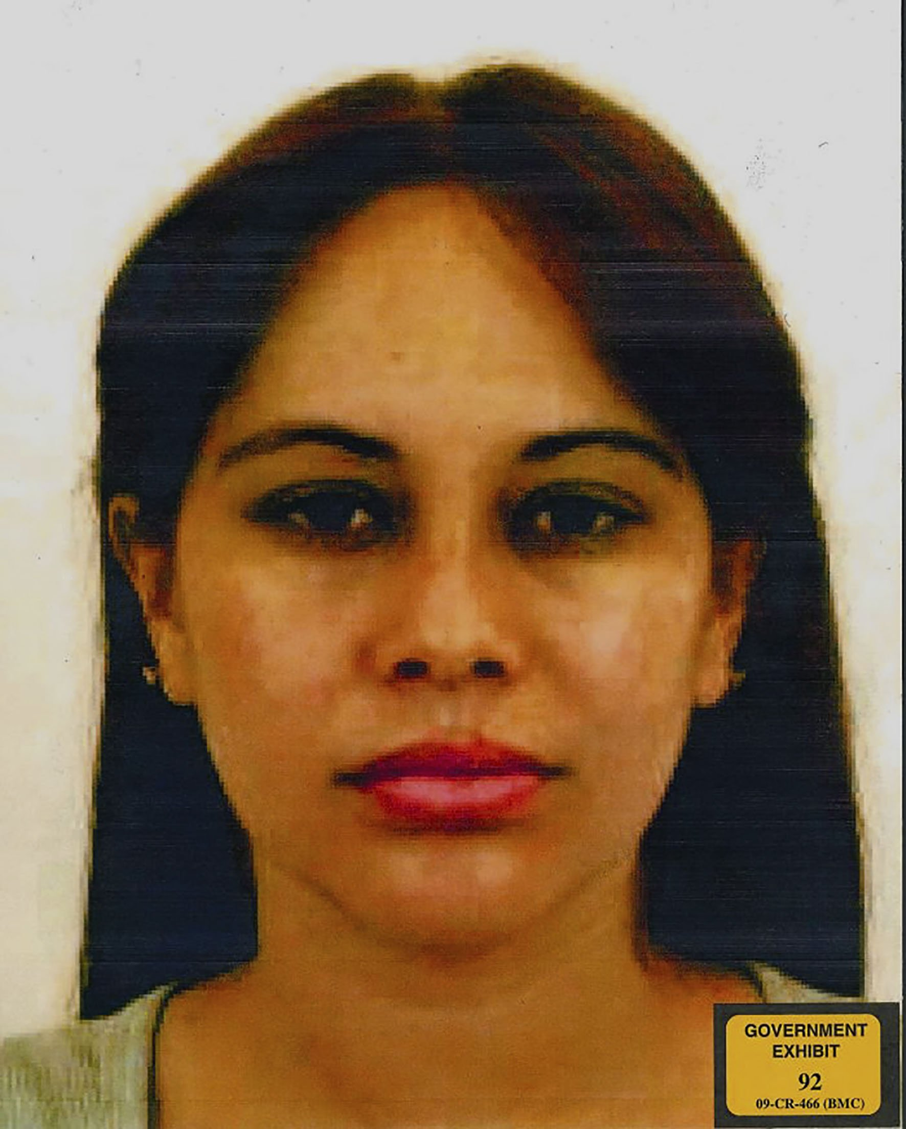 This Eastern District of New York (EDNY) undated evidence handout photo, submitted as evidence, and obtained Jan. 17, 2019 shows Lucero Guadalupe Sánchez López, 29, a Mexican former lover of Joaquin Chapo Guzman, who took the stand on the trial of the Mexican druglord as a government witness on Jan. 17, 2019.