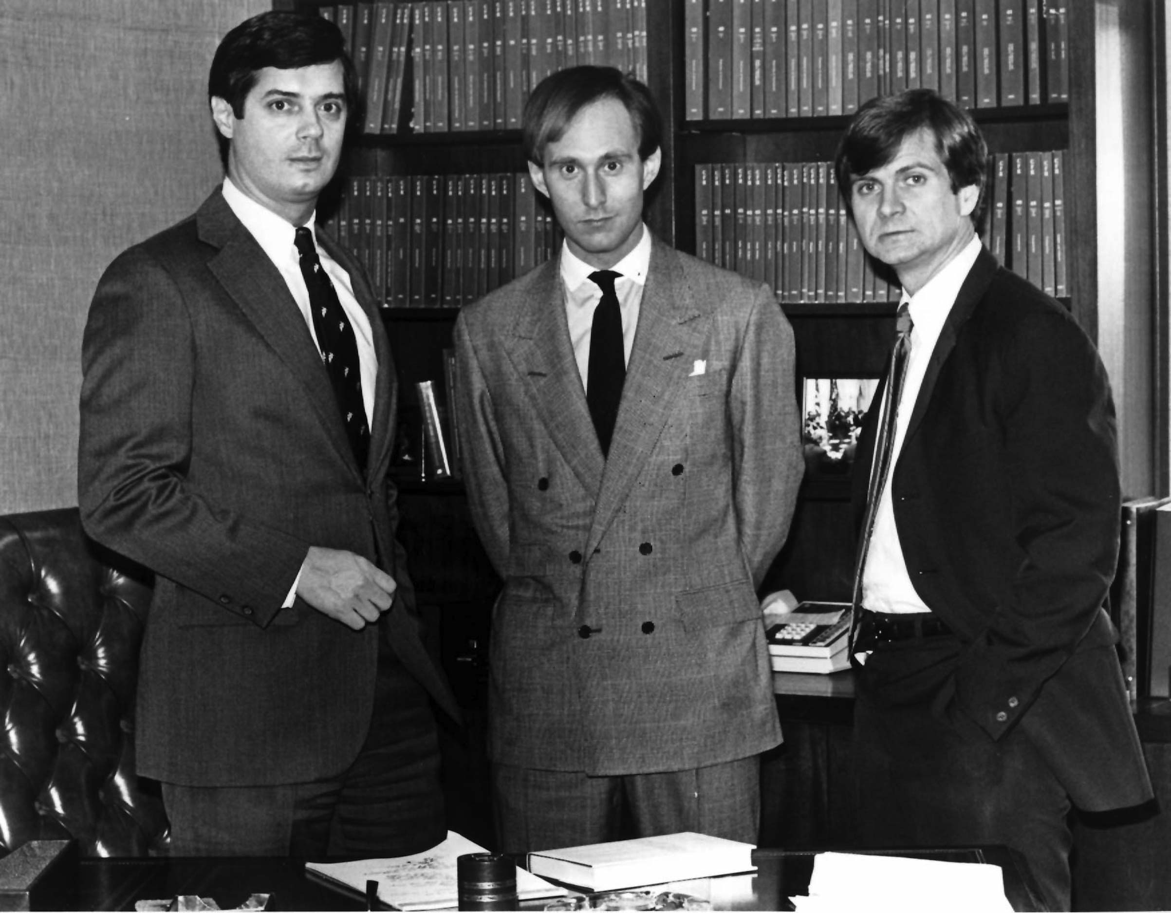 Paul Manafort, Roger Stone and Lee Atwater on March 21, 1985.