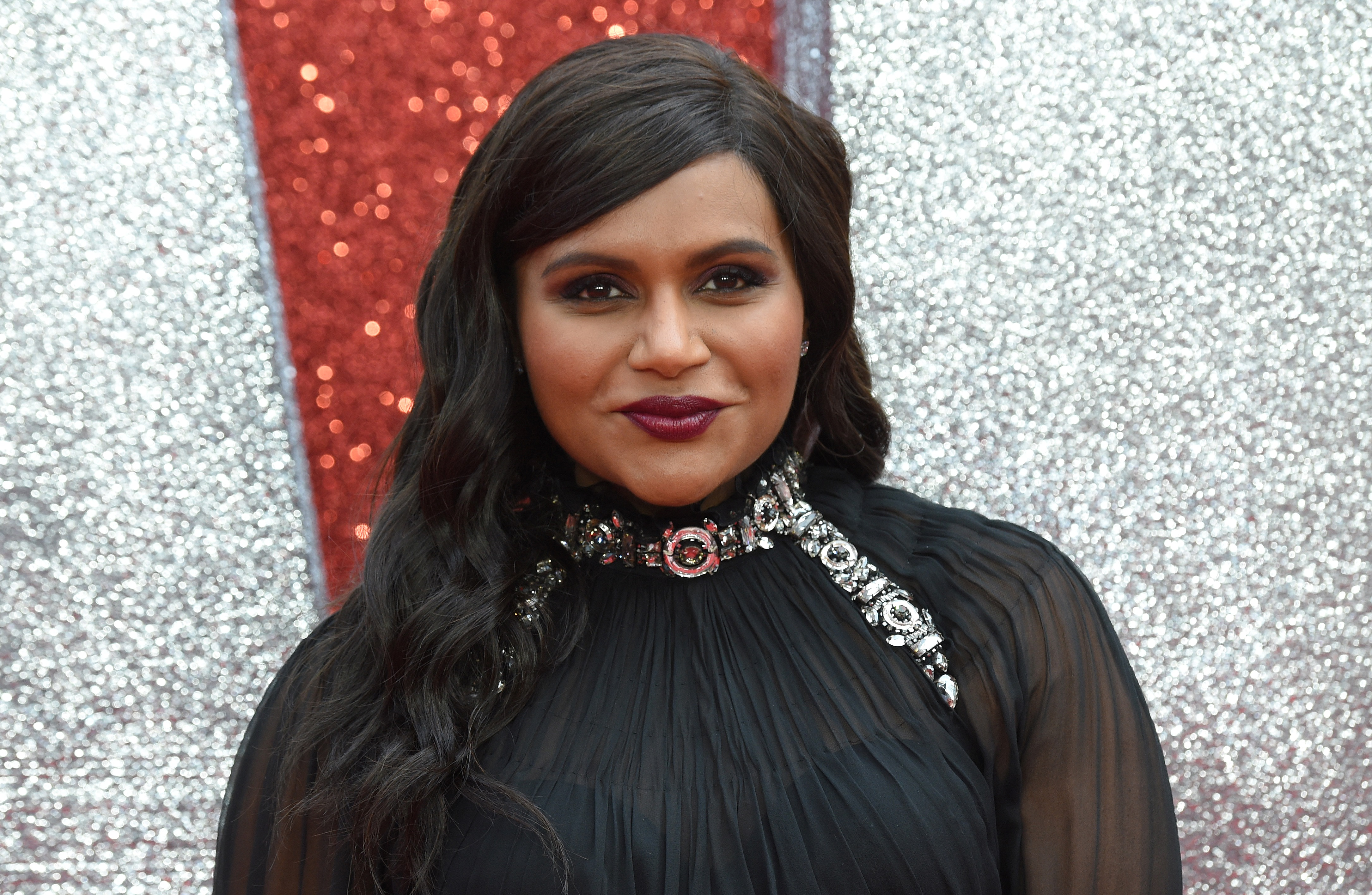 Mindy Kaling at the European premiere of the film  Ocean's 8  in London on June 13, 2018.