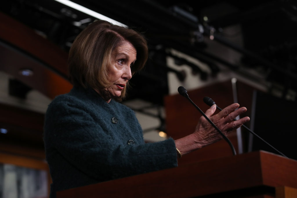 U.S. Speaker of the House Nancy Pelosi answers questions during her weekly press conference Jan. 10, 2019 in Washington, DC. Pelosi asked President Trump to postpone the State of the Union address until the government reopens.