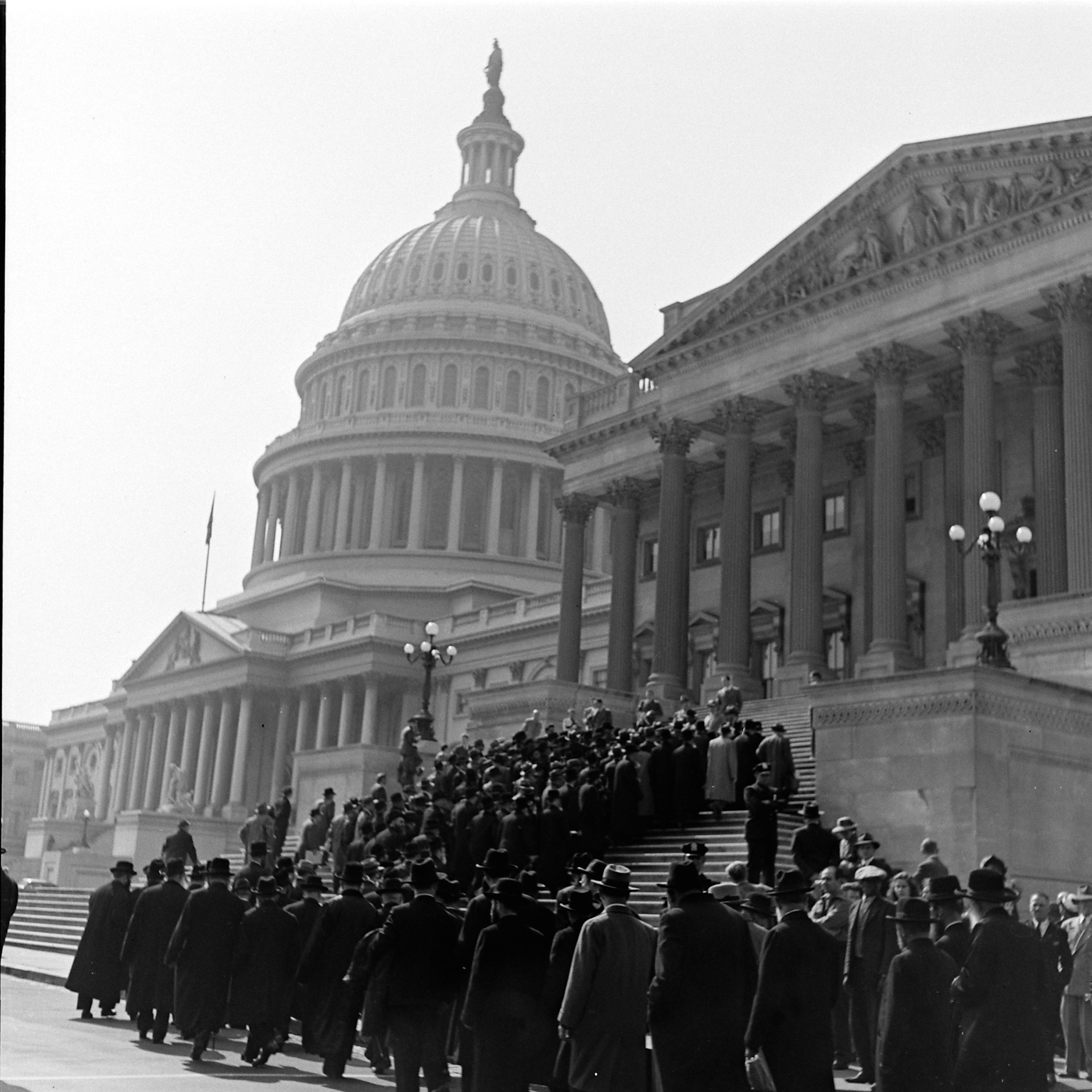 Participants in the Rabbis' March on the steps of the United States Capitol Building in Washington, D.C., on Oct. 6, 1943.