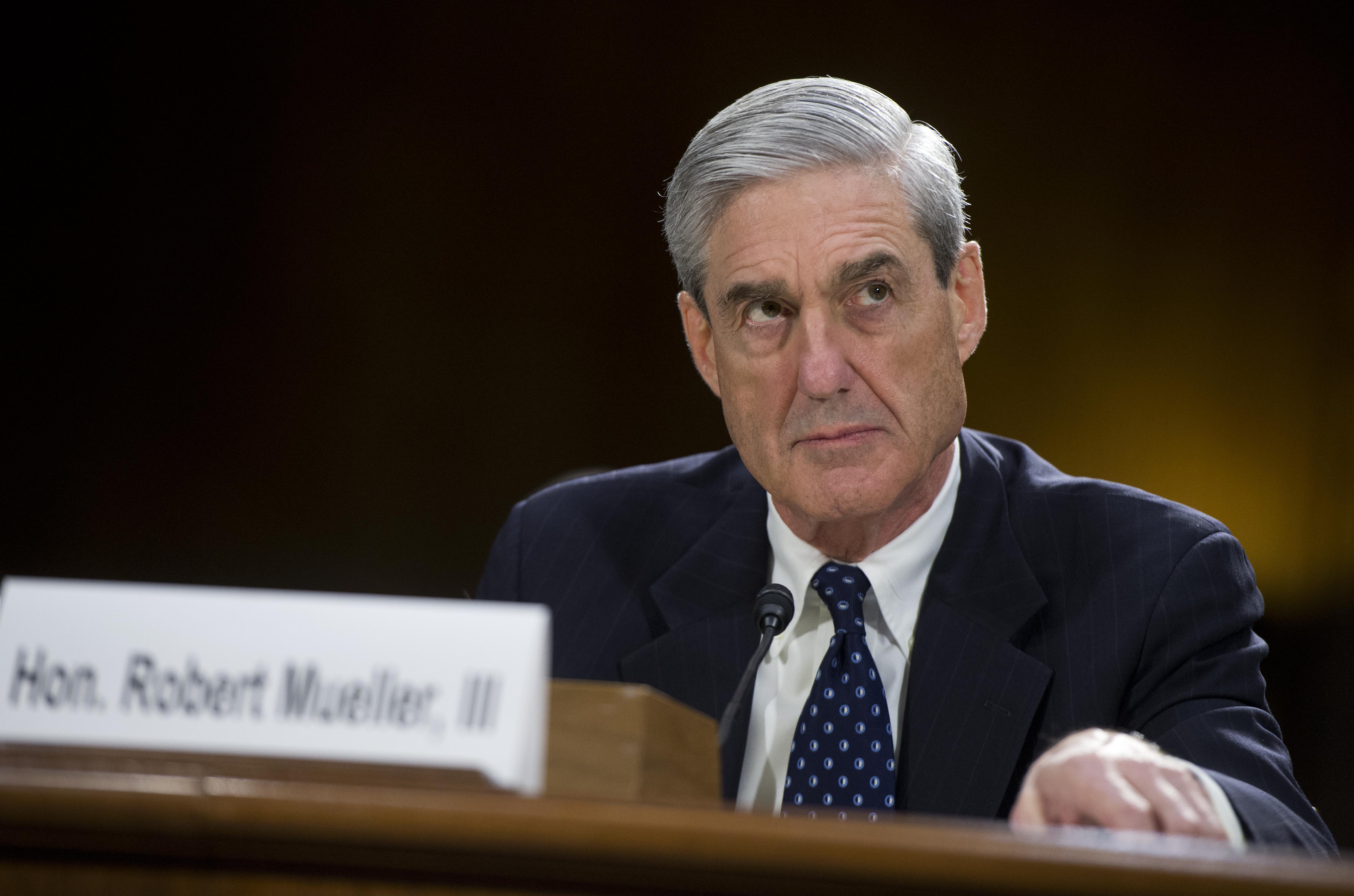 FBI Director Robert Mueller testifies before a Senate Judiciary Committee hearing on oversight of the FBI on June 16, 2013.