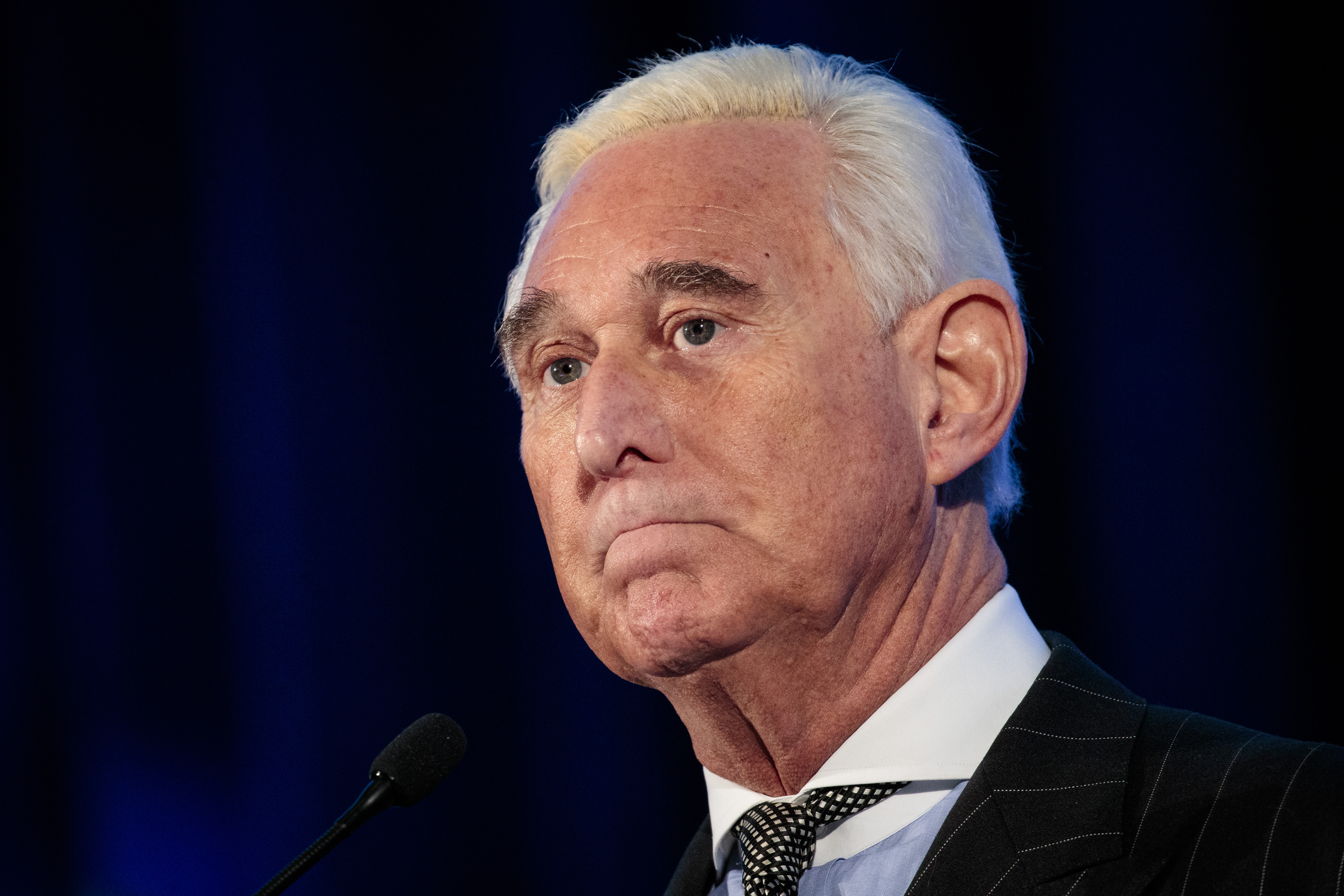 Political strategist Roger Stone pauses while speaking at the American Priority Conference, Dec. 6, 2018 in Washington, DC. Stone recently told Congressional committees that he will invoke his Fifth Amendment rights in order to not testify in response to committee requests for documents and testimony.
