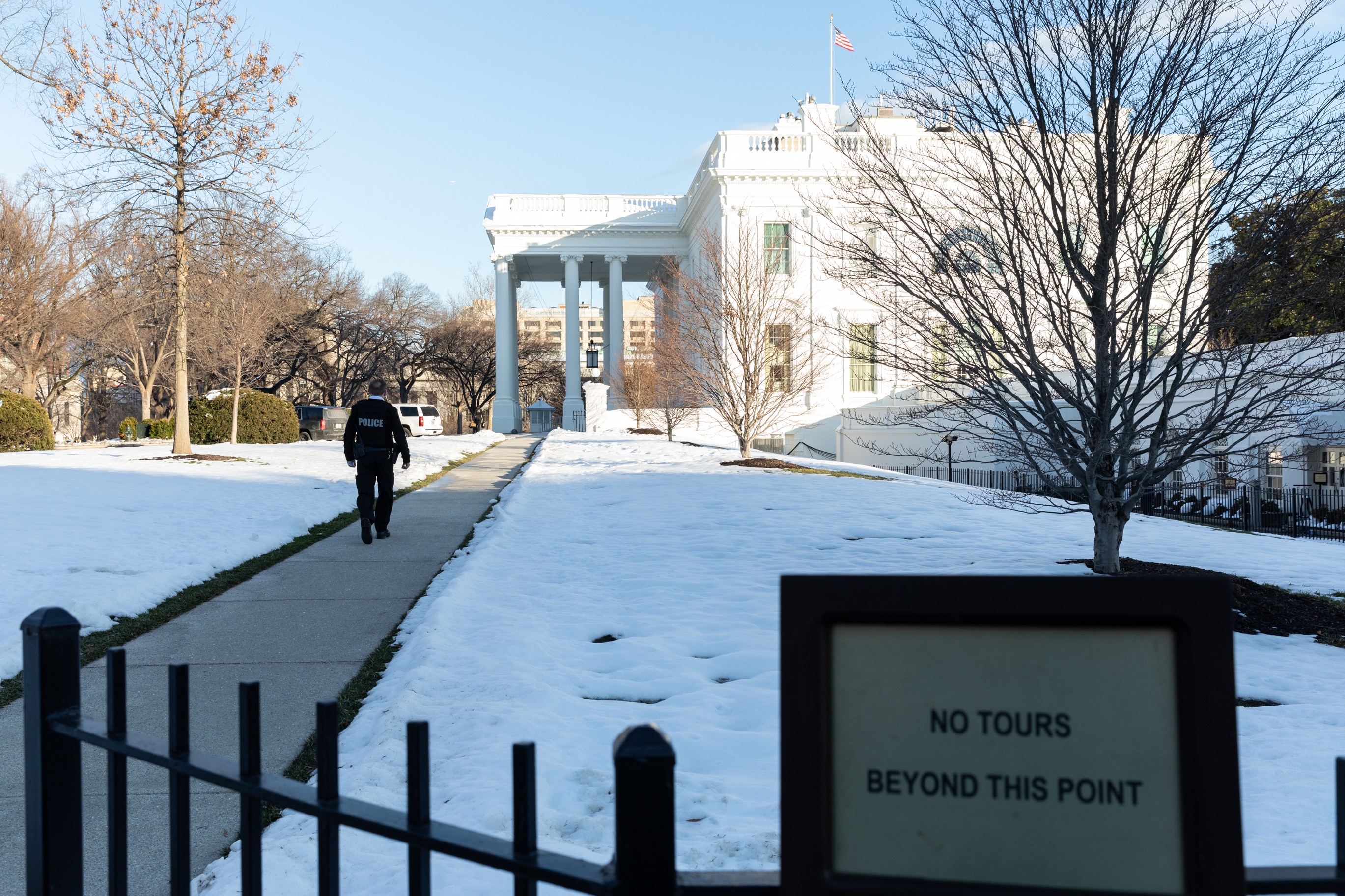 Day 26 of the partial federal government shutdown, outside of the White House, in Washington, D.C., on Wednesday, January, 16, 2019.