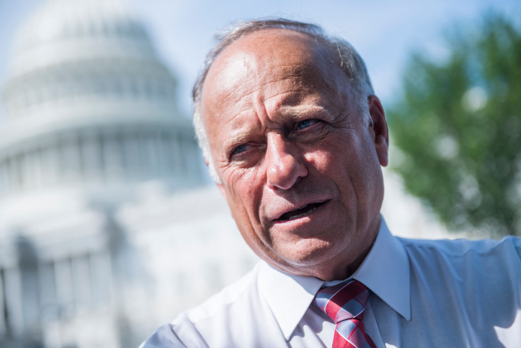 Rep. Steve King, R-Iowa, pictured in Sept, 2018, will be blocked from committee assignments for the next two years.