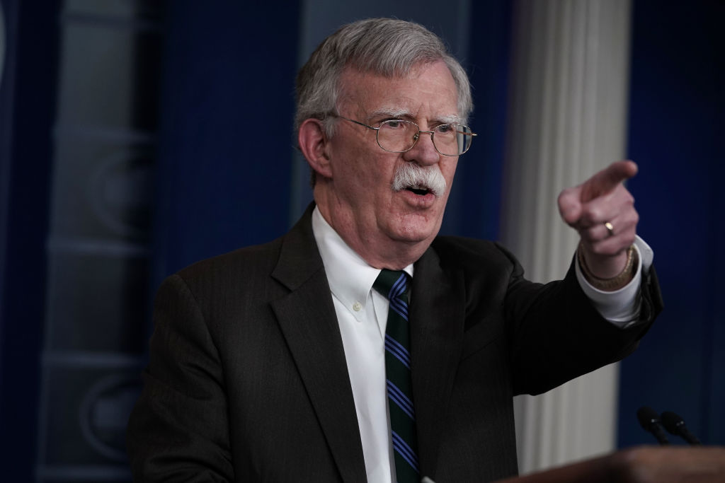 National Security Adviser John Bolton speaks during a news briefing at the White House November 27, 2018 in Washington, DC.