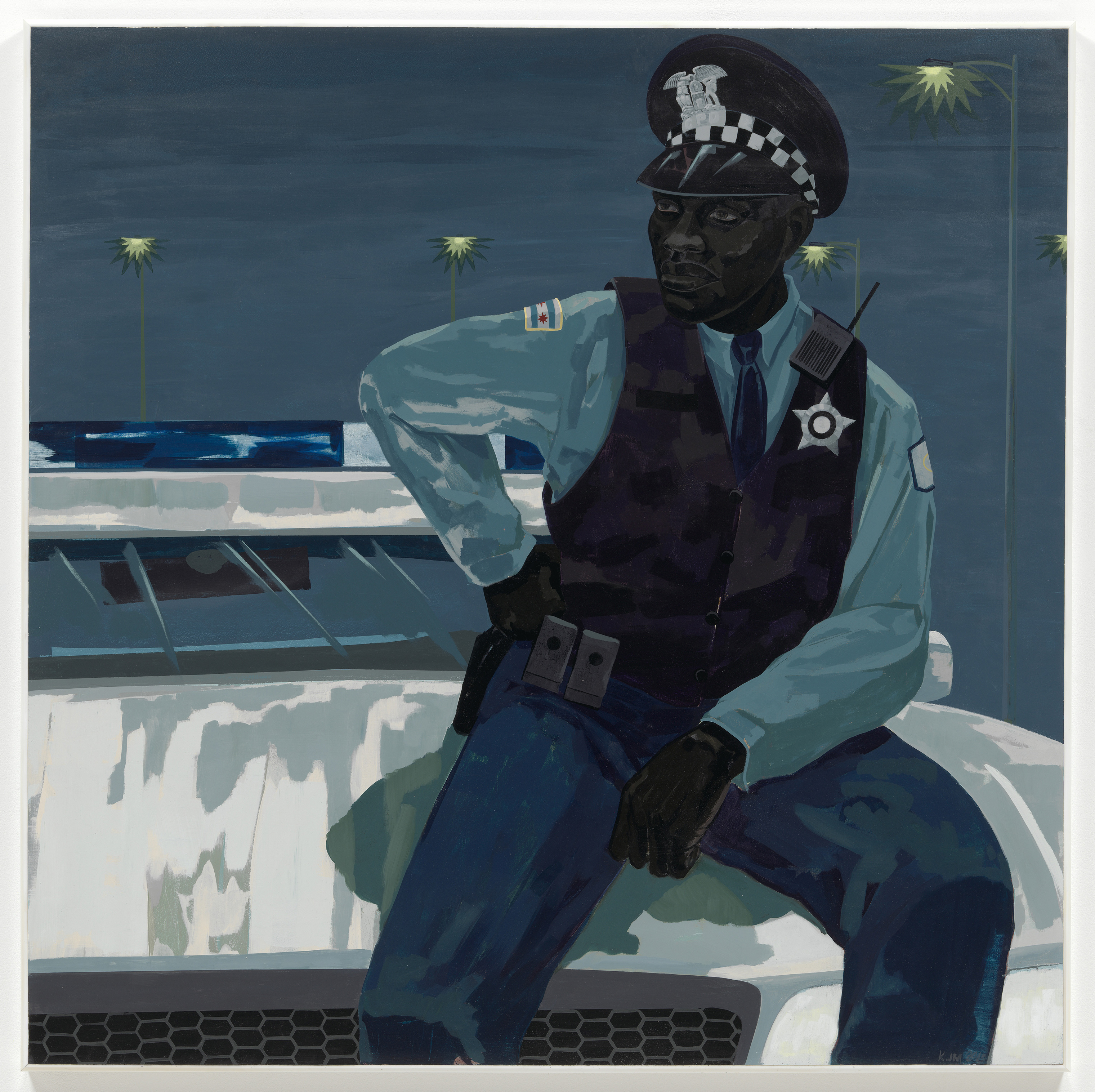 Kerry James Marshall's 2015 painting Untitled (policeman)