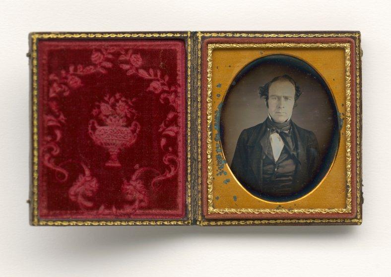 Daguerreotype photograph of a white man taken by Augustus Washington