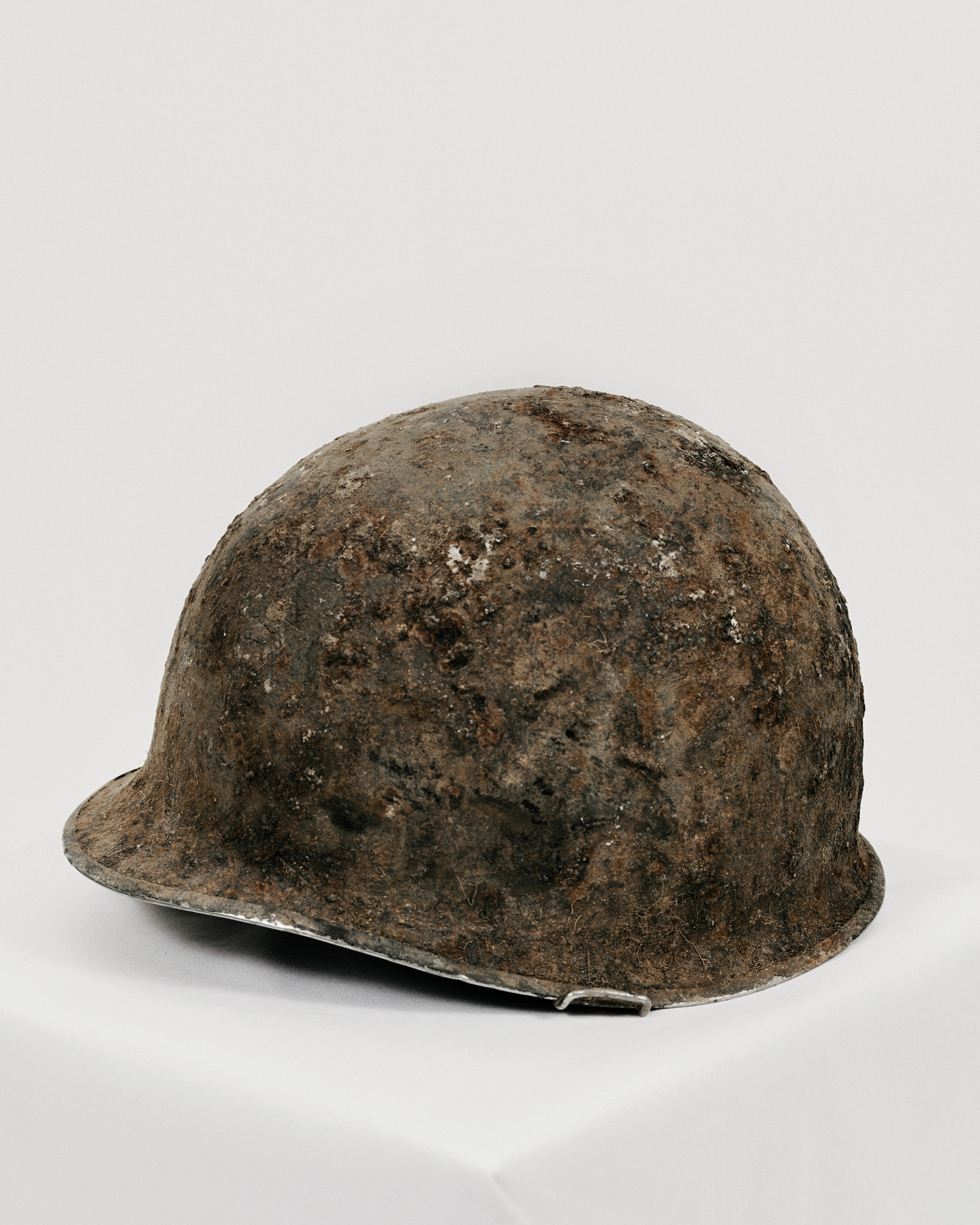 A helmet that was returned by North Korea in 2018.